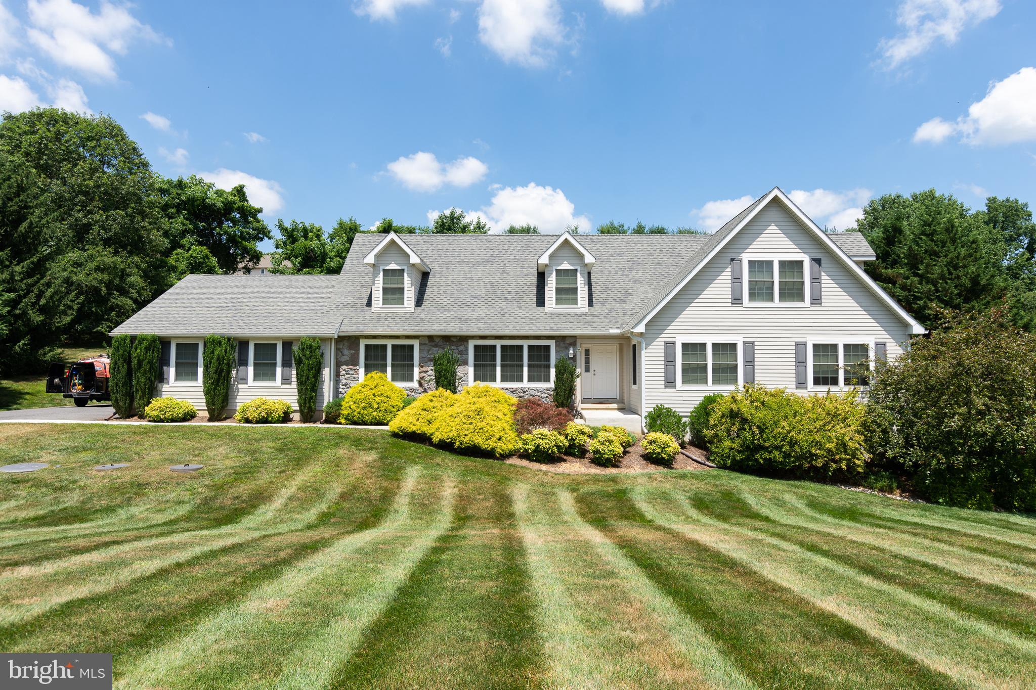 Built in 2010, this beautiful Cape Cod in Ramsey Ridge is awaiting its new owners. It features a fir