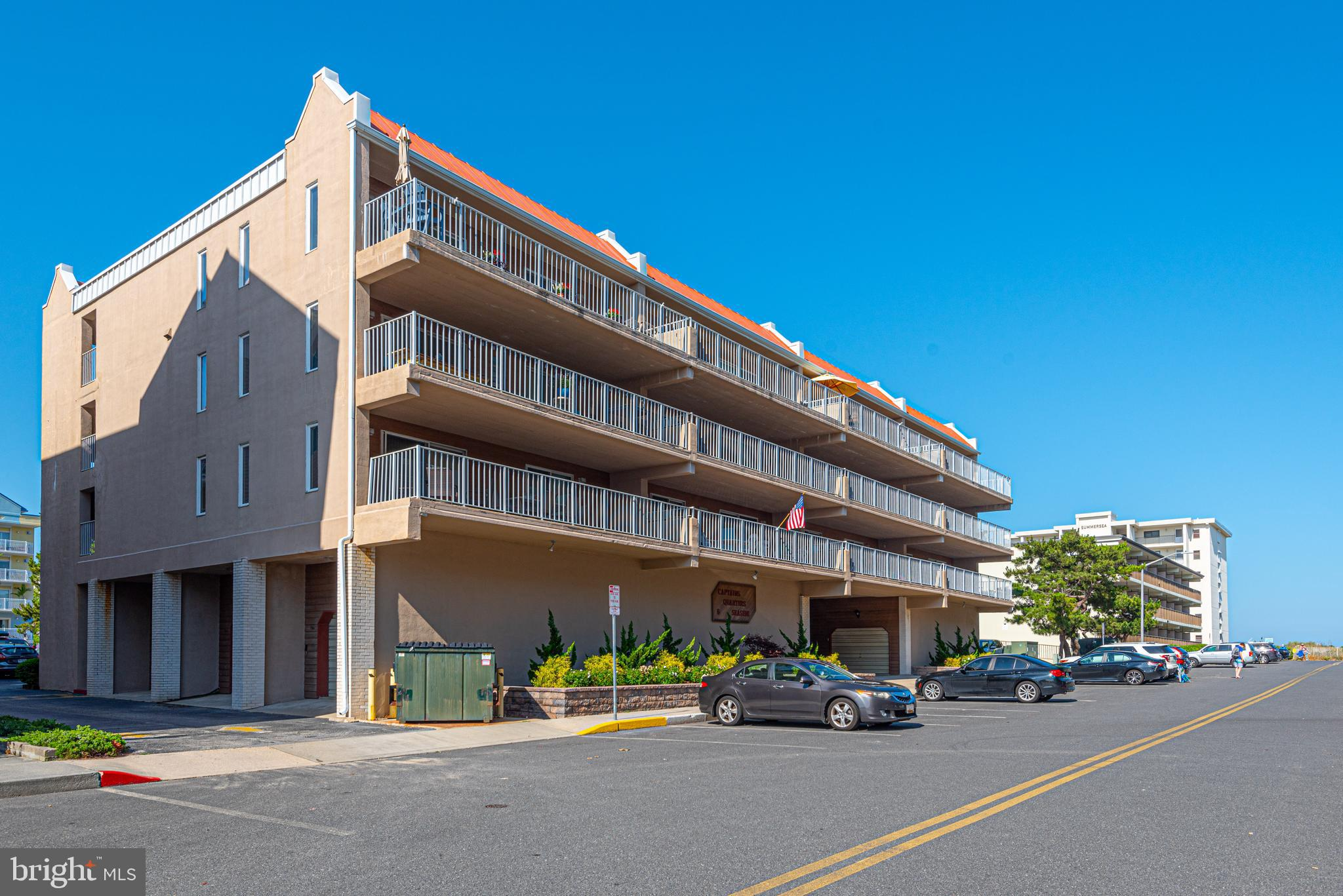Southern exposure Ocean block Masonry condo with 3BD/2BA, elevator and garage! The oversized balcony