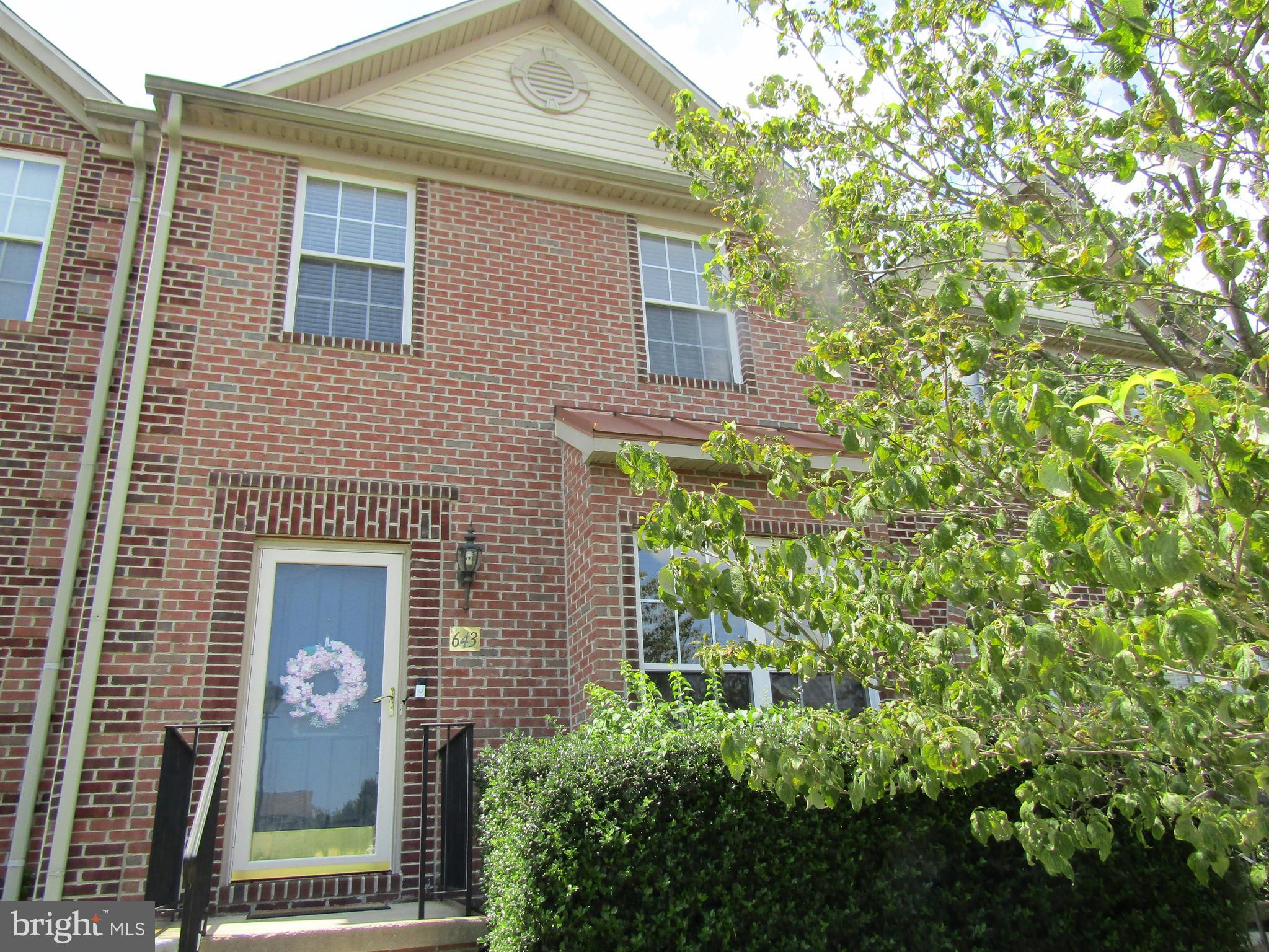 Brick front townhome located in desirable community of Monmouth Meadows. Three level bump out. Premi