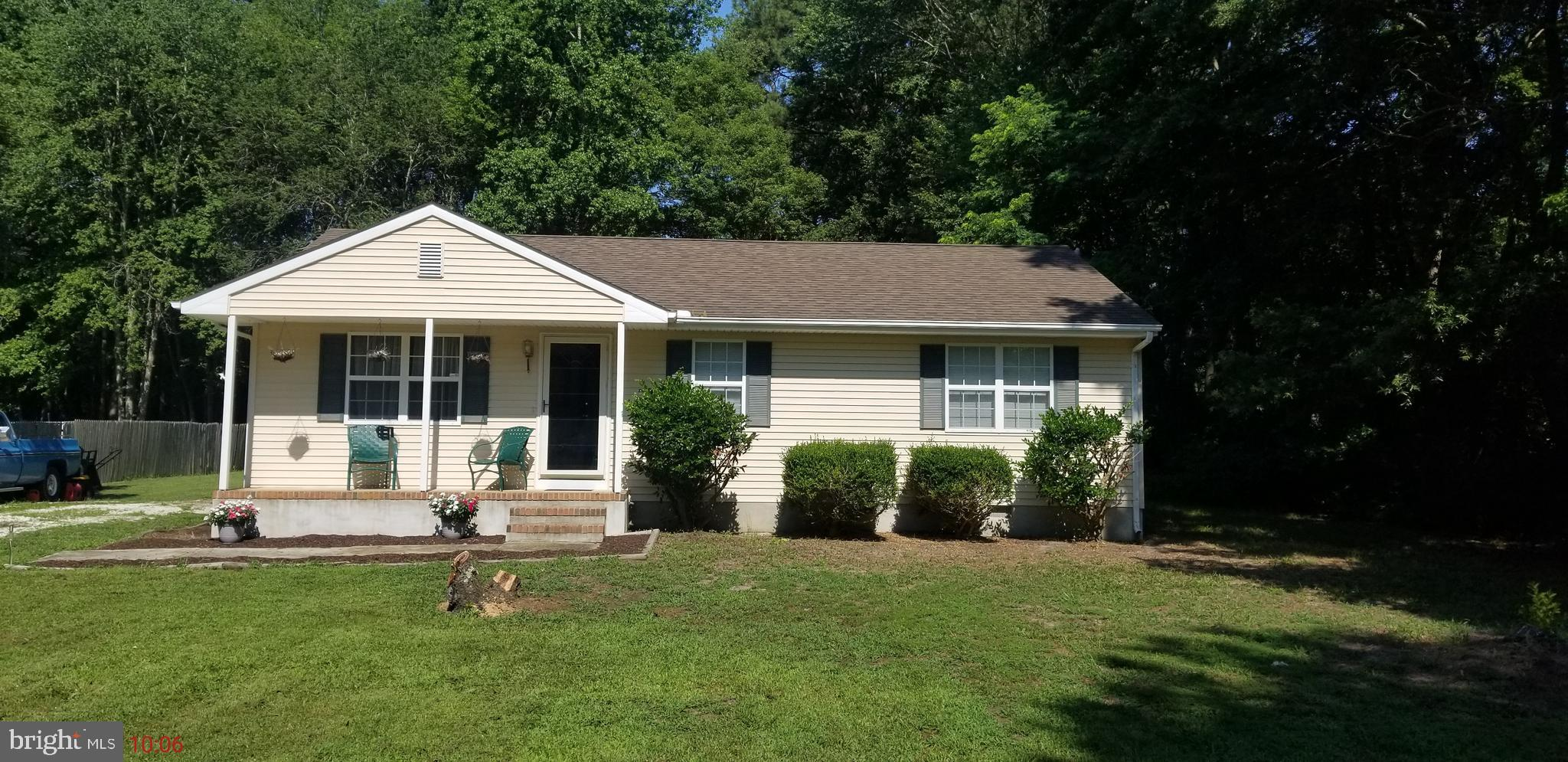 Enjoy peace and quiet in this AFFORDABLE home on a large lot(.68 acres) just outside of Salisbury- no HOA fees and low property taxes (~$100/month) make this an easy decision and a GREAT investment.  Perfect outdoor space for a garden, room to play,  storage shed, and plenty of parking space.   Inside, you will find an open plan for the kitchen/dining and living rooms, as well as 3 beds and 2 bathrooms.  Just add personal touches to make it your own.  New 'smart' (programmable) A/C unit just installed and seller will consider flooring credit with acceptable offer.