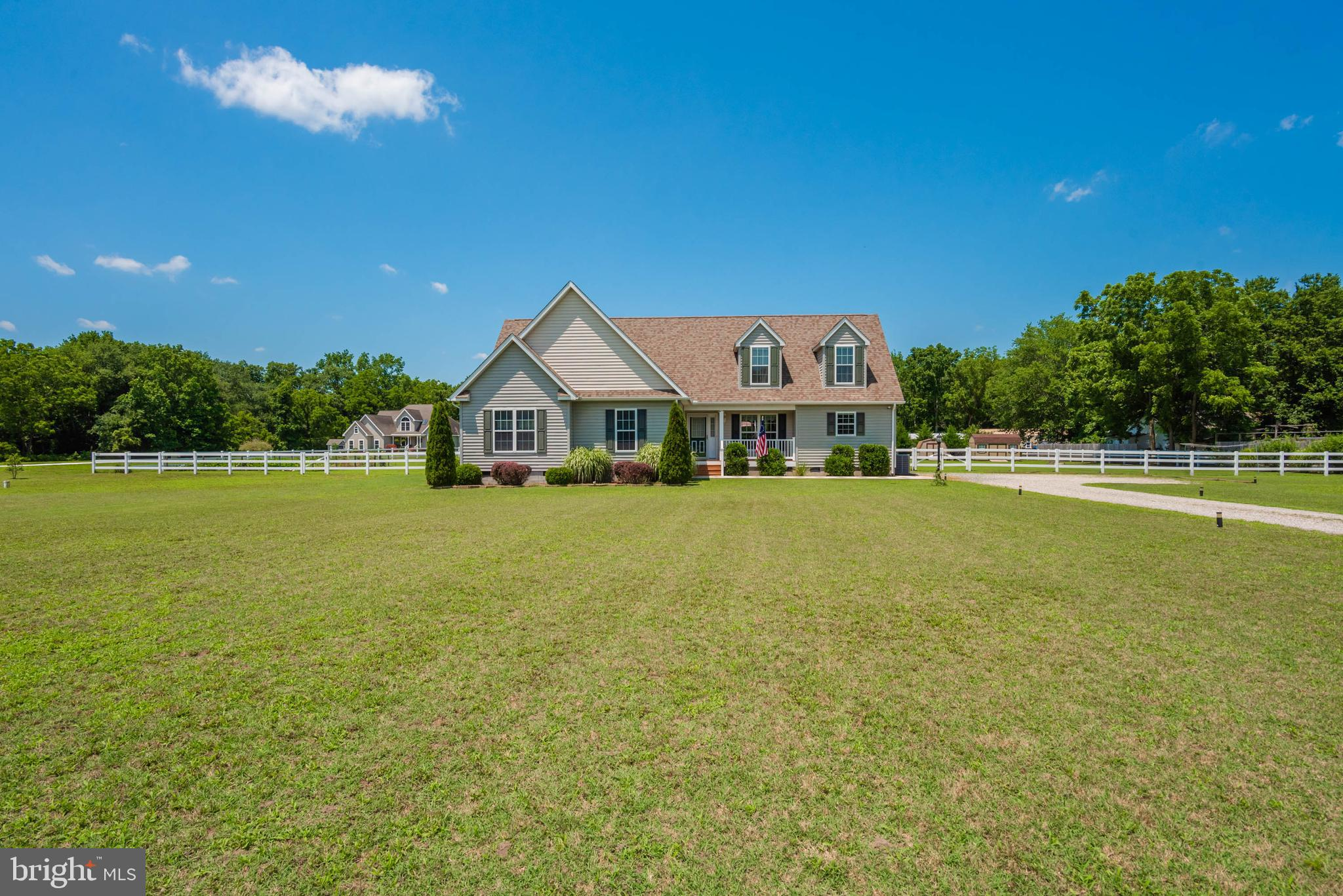 Rural Living at it's best in this 2012 built home on 2.35 acres with huge vinyl fenced yard for kids