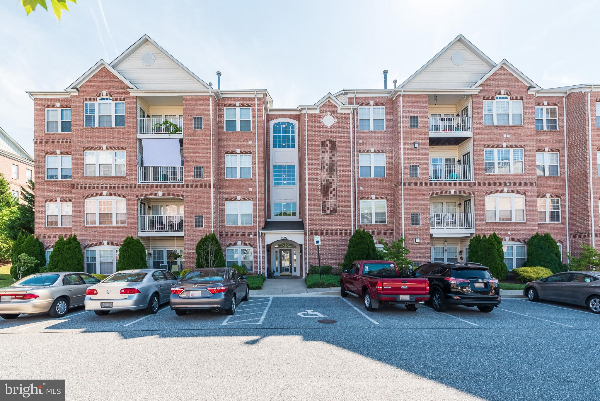 WOW - what a large  condominium.  This is a 4th floor penthouse unit facing away from Honeygo Blvd which makes it super quiet. No one living above you. Private balcony. This community is close to Honeygo Village, White Marsh Mall, and plenty of  restaurants.  Many amenities at your fingertips. Close to major routes. No grass to mow - no snow to shovel. Assigned parking space so you always know where to park. Plenty of unmarked visitor parking for your guests.  This building features a secure entry  with a buzzer system in the vestibule.  You can access the unit by stairs or elevator.  Lovely common areas include a walking path. Upon entrance you will see the open layout with vaulted ceilings, crown moldings and feature wall has a cozy gas fireplace. Bright natural light makes you feel at home.  Large walk in storage closet and coat closet in foyer. Large living room suitable for all types of furniture. There is  a breakfast bar overlooking the kitchen sink  with stools and a breakfast/sunroom off the kitchen/ living room area to put a table/chairs.  Plus there is  a formal dining room open to the living room.  Large master bedroom with sitting area. Vaulted ceilings give a grand feeling.  Spacious master bath and large walk in closet are features of this master suite. The closet conveniently  includes a built-in ironing center.  The second bedroom is off the living room with a full bath beside it. Washer and Dryer with storage next to kitchen.  Open Kitchen with lots of storage. Wi-fi thermostat installed to control the temperature while away from home.  New refrigerator in 2018.  New Hot Water Heater and Air Conditioning Unit/Furnace replaced in 2016. Furnishings negotiable. This unit has been well maintained and spotless.  Learn to live a relaxed life! Come see your new home before it's gone!
