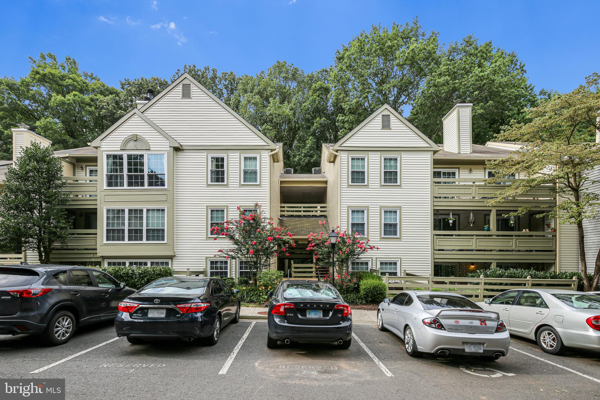 Fabulous Move-in Ready Ground Level 2-Bed, 2-Bath condo in the Highly Sought after Bristol House Community. You'll love the Floor Plan with 2 master bedroom suites, a rare sunroom, built in bookshelves and a balcony facing woods  and overlooking the walking path.  Updated Kitchen with granite counters and stainless appliances. Cozy up in the fall and winter with the wood burning fireplace. Great Location less than 2 miles from the Metro & minutes to the Toll Road and Reston Town Center. The Condo Fee covers exterior Maintenance of the Condo as well as the Landscaping, Roads and Common Areas, and Water. This home is move in ready and won't last long.