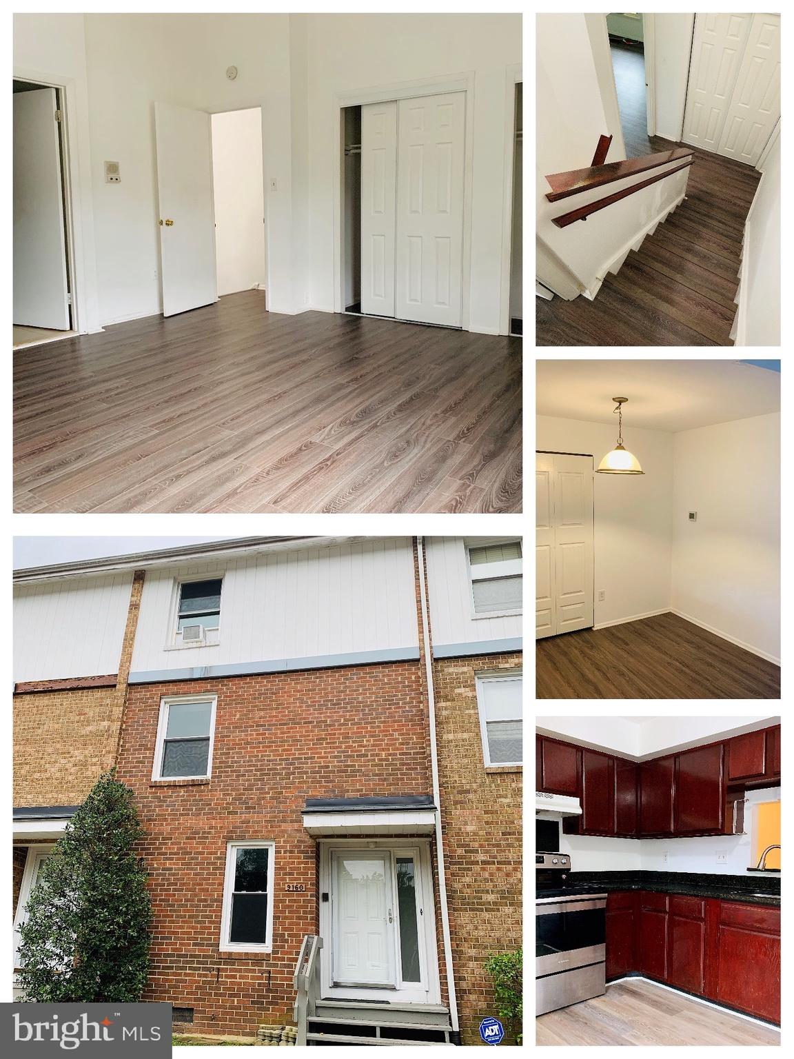 Move-in ready. Large Five Level Townhouse!Hardwood Floors. Gourmet kitchen with table space. Separat