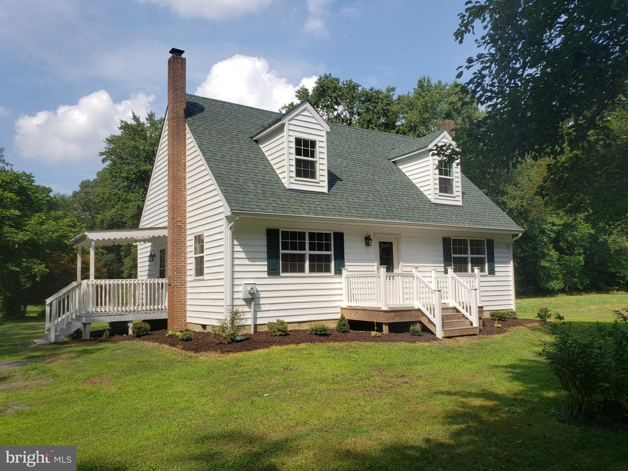 Renovated Cape Cod on 35+ acres (approx. 5 acres cleared, the rest woods), 3 bedrooms 2 baths, livin
