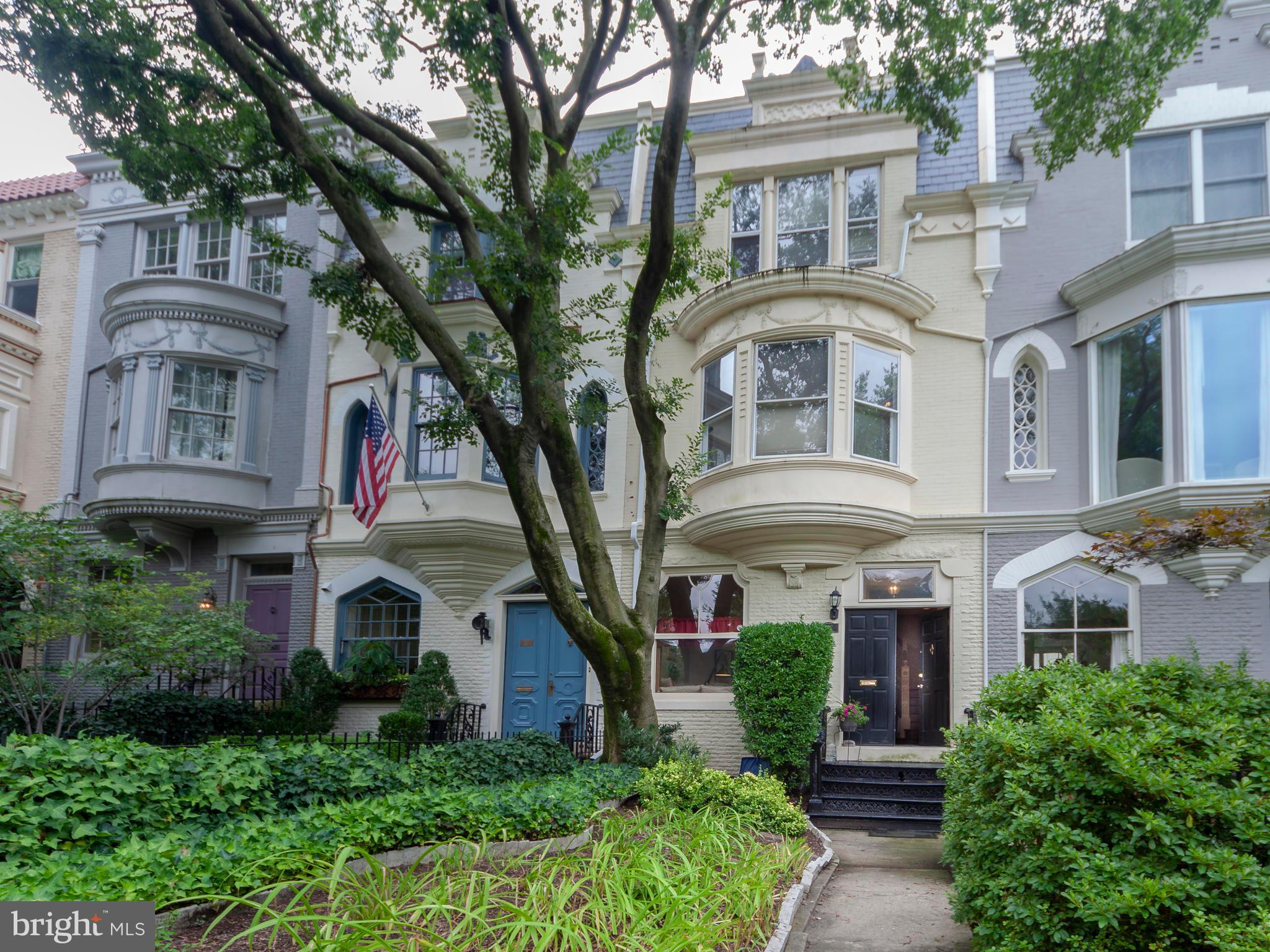 Imposing town-home with deep front garden on one of the Hill?s most desirable blocks!  Just a hop, s