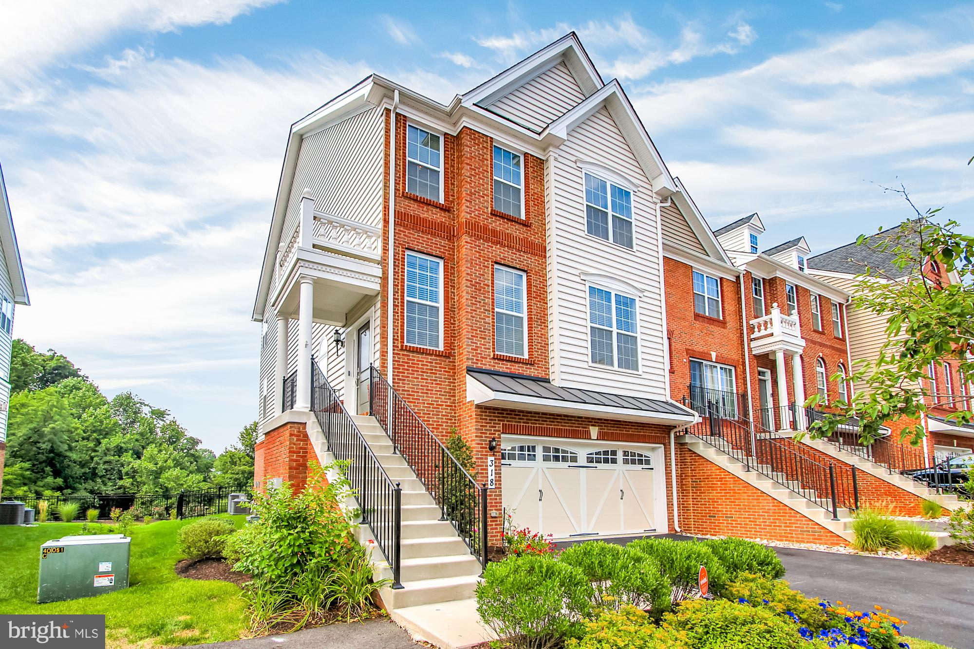 Beautiful EOG Townhome in Laurel Ridge!  Large Floorplan w/ Bump out, situated on one of the largest TH lots in the community.  Enjoy beautiful (and protected) nature views from the oversized trex deck.  Upgraded options throughout, including gourmet kitchen with beautiful granite counters, SS appliances. Versatile and Open concept on the main, provides great space for entertaining.  Large Master Bedroom, 2 WIC, Spa Bathroom.  2 Bedrooms and Hall bath complete upper level, with fully finished walk out lower level w/ full bath leaded to fenced yard.   2 car sealed garage, and enjoy the overflow parking beside the home!