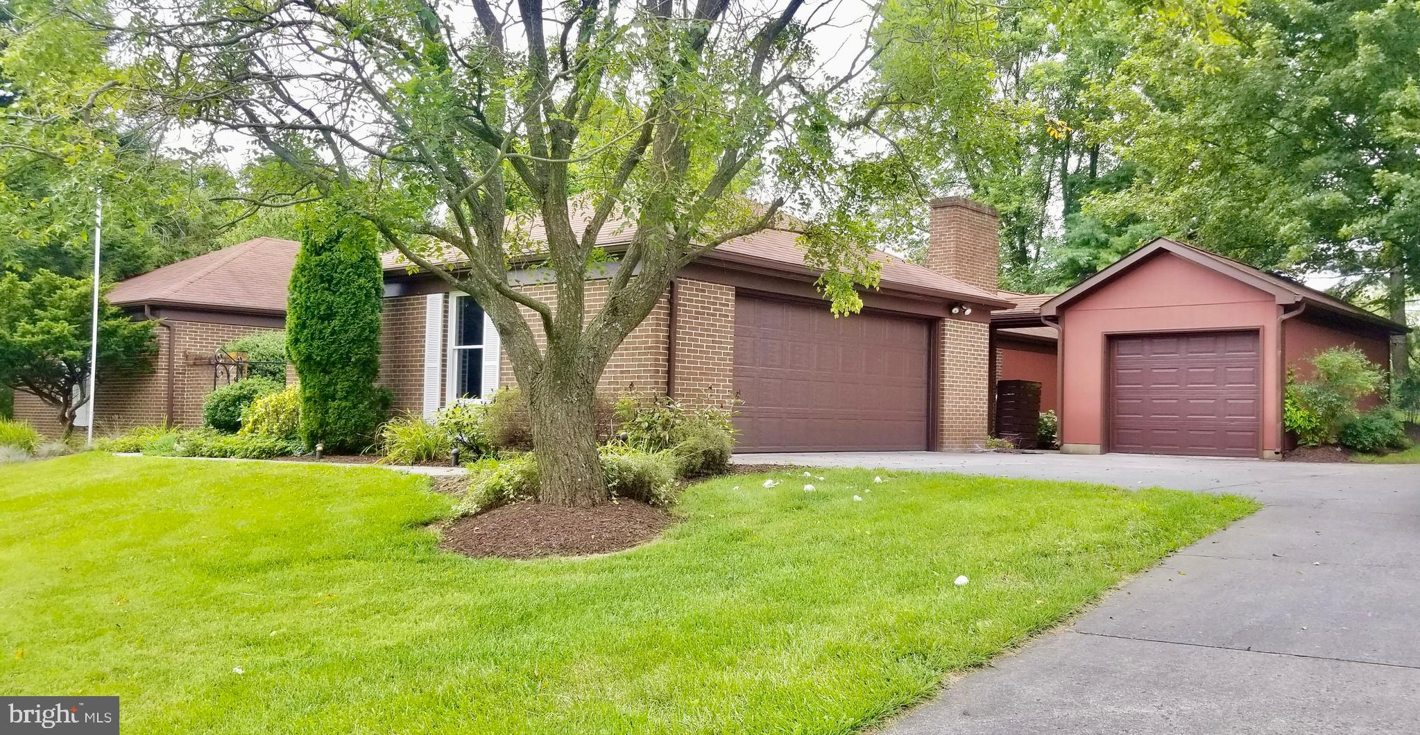 All brick ranch-style home on 3/4 acre lot just around the corner from Stonebrook Racquet & Fitness