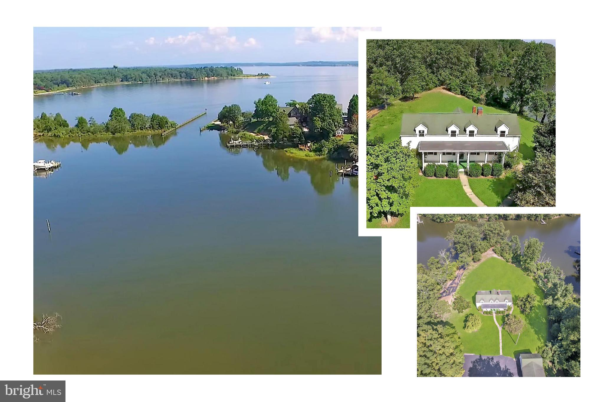 Approximately 1000 feet of water frontage!  Existing home has tons of potential and space, just wait
