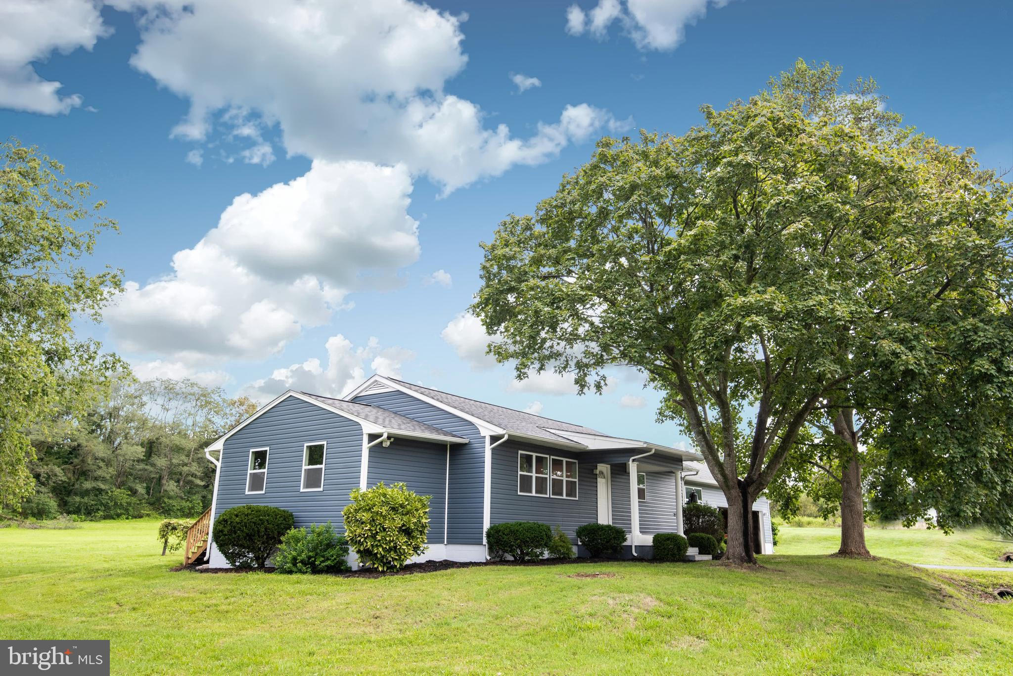 Beautiful opportunity to purchase a fully renovated home in Berlin, Maryland on 2.8 acres of propert