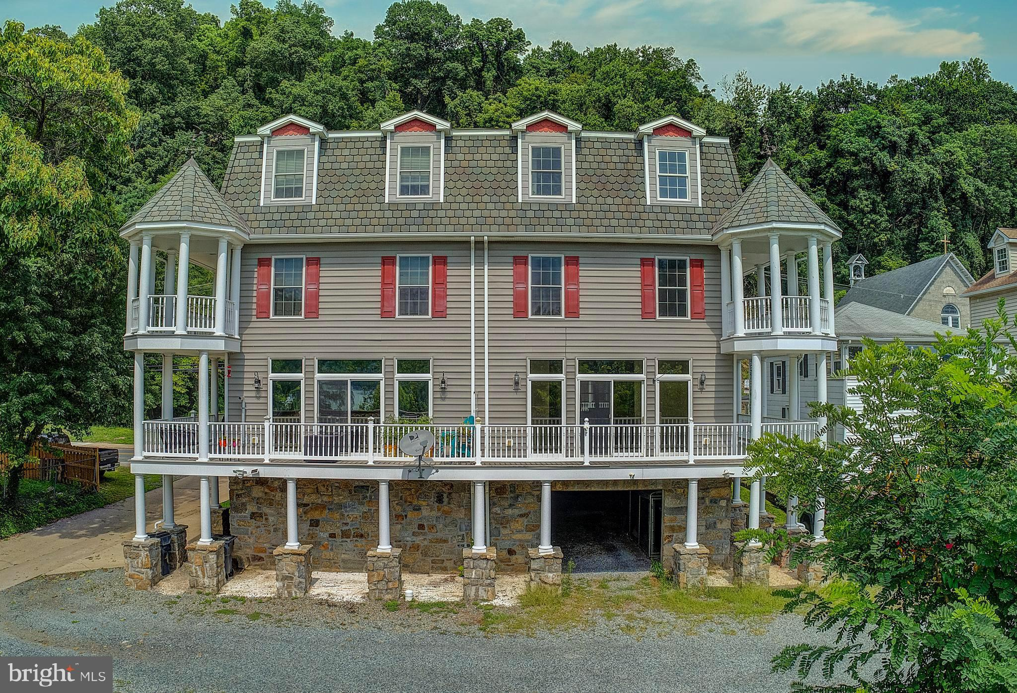 Located in Historic Port Deposit, this Luxury Duplex has it all! Spectacular Views of the Susquehann