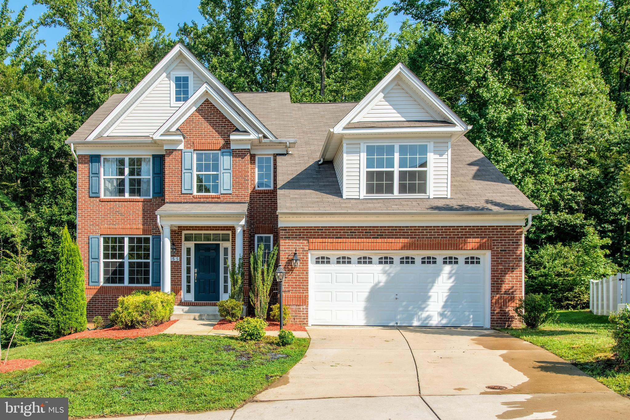 Picture Perfect Brick Front Two Car Garage  Single family home in the sought after Highland Farms Co