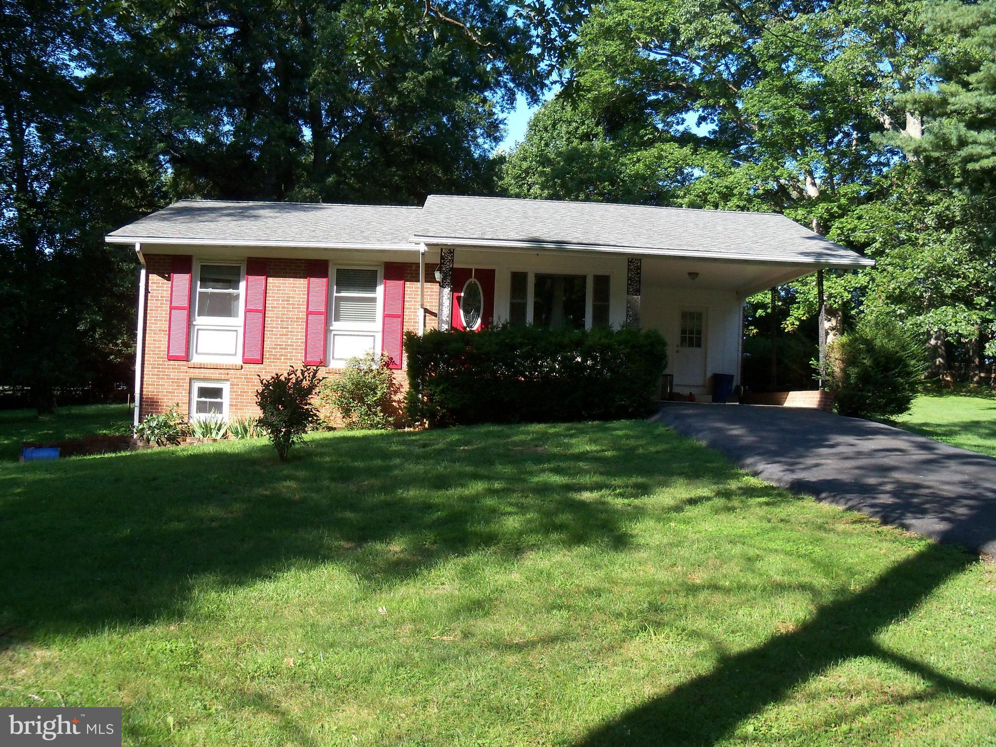 """Three bedroom two bath all brick rambler conveniently located near Warrenton and Gainesville.  Perfect for commuters.  Propane tank in the ground is owned and not leased.   Property sold """"As Is""""."""