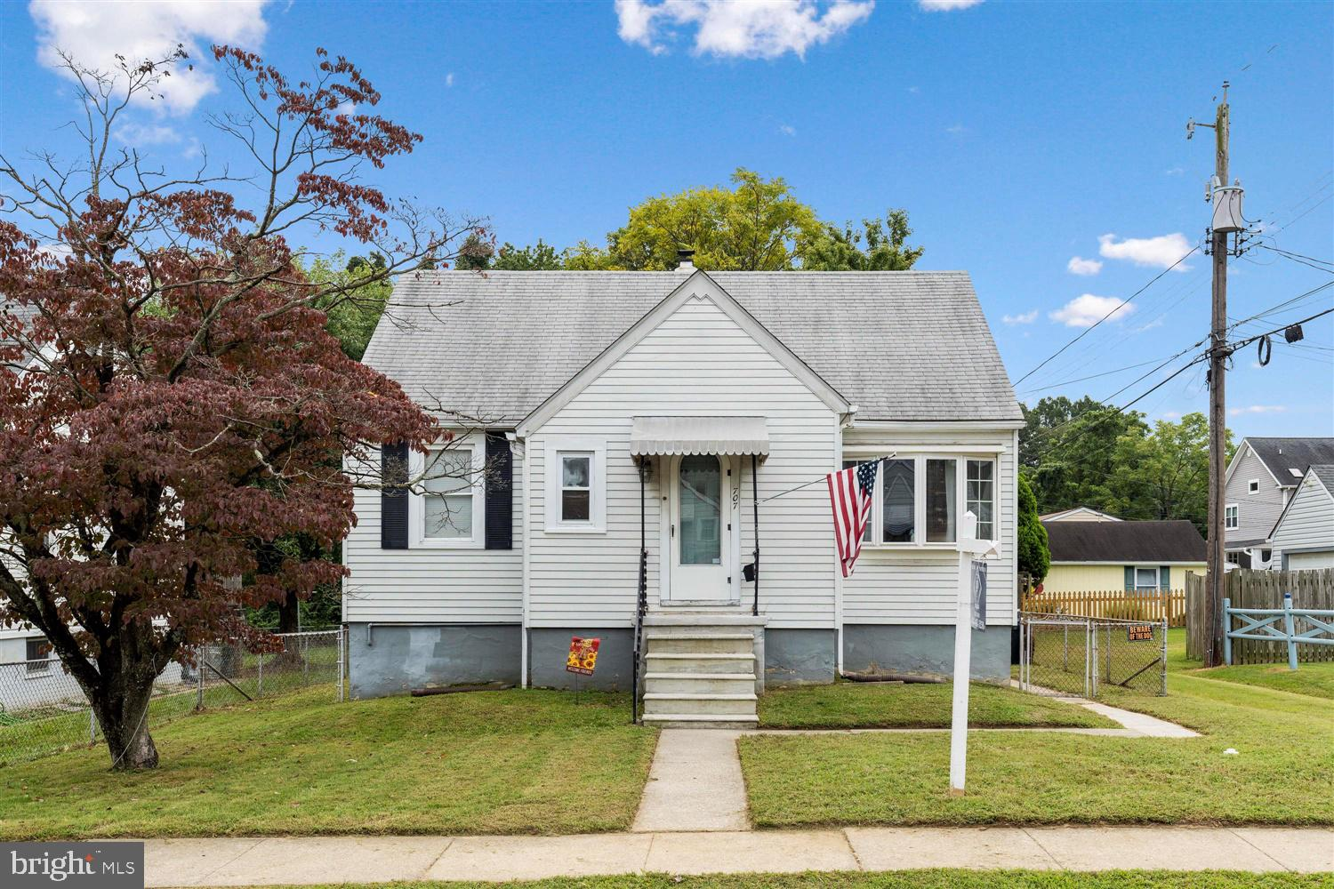 4BD/2FB Cape Cod with large flat lot located on a dead end street! Possible 5th bedroom in basement