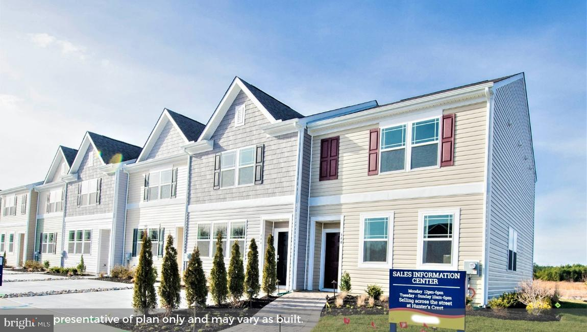 The 1,356 square foot, two-story Jefferson at Spring Village is an open-concept townhome with 3 bedr