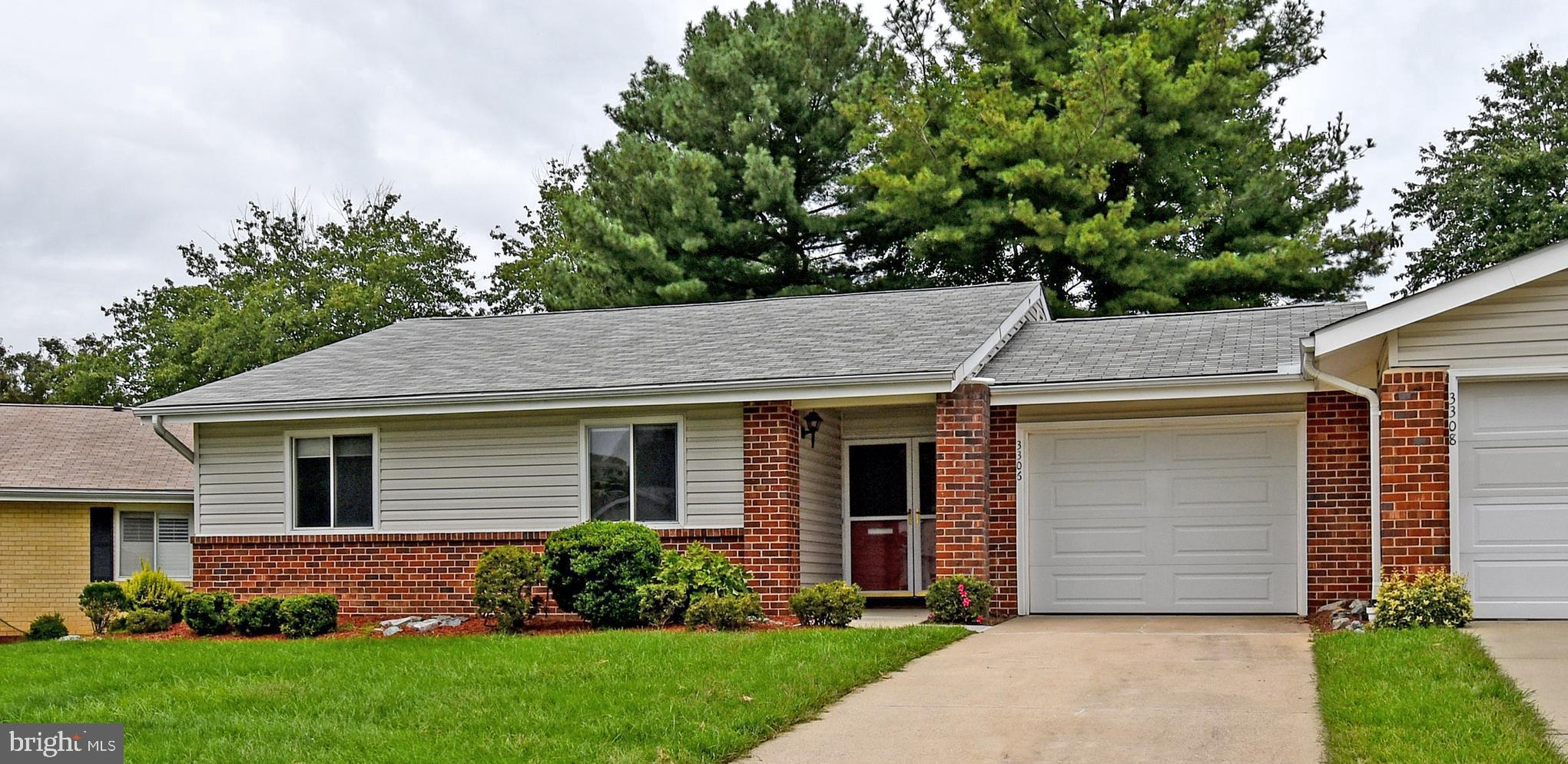 55 and Over Gated Community in Leisure World of Maryland.  Beautiful Marlboro Model.  2 Bedrooms, 2