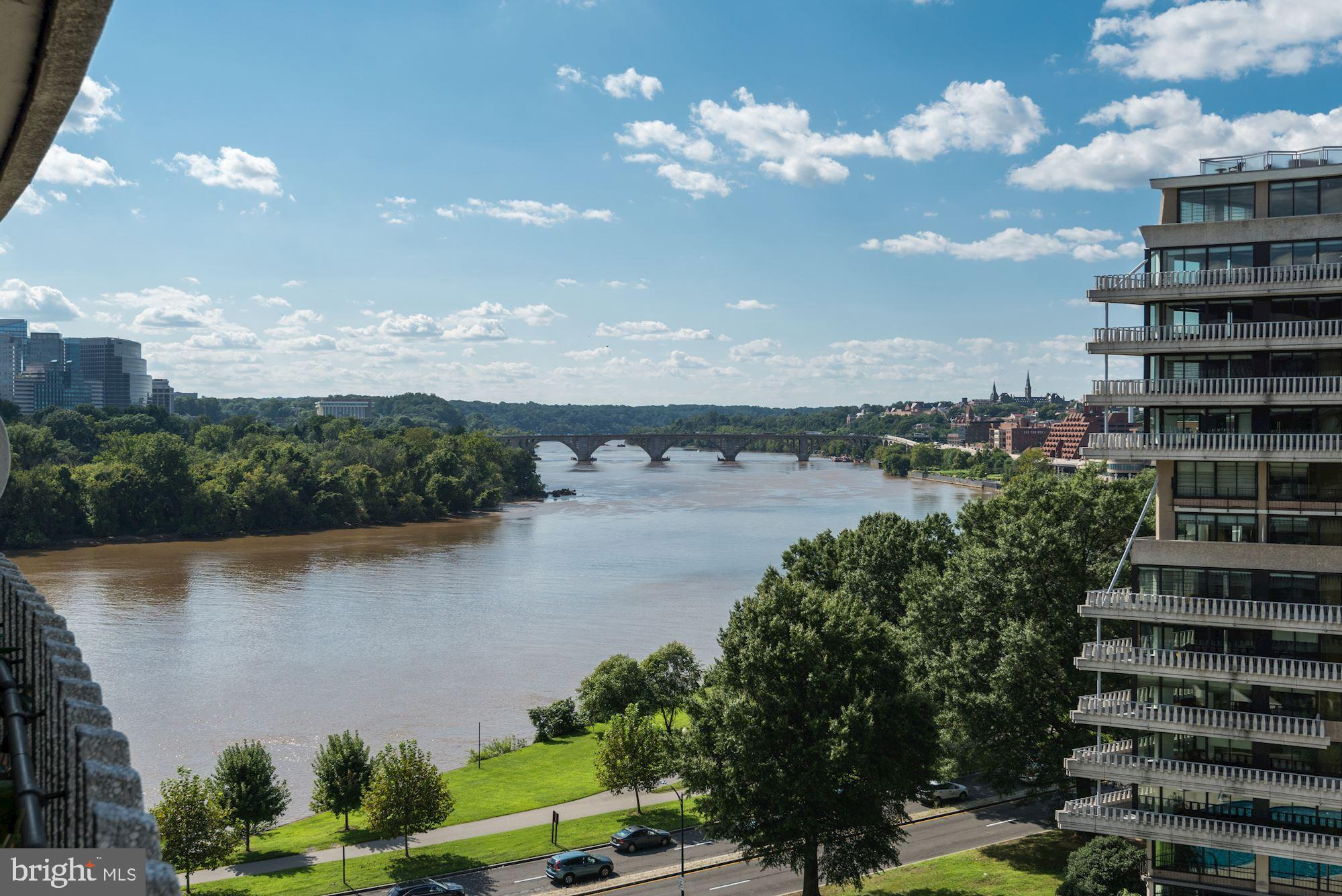 Enjoy the spectacular sunset over the Potomac from this fully renovated one bedroom, two full bath W