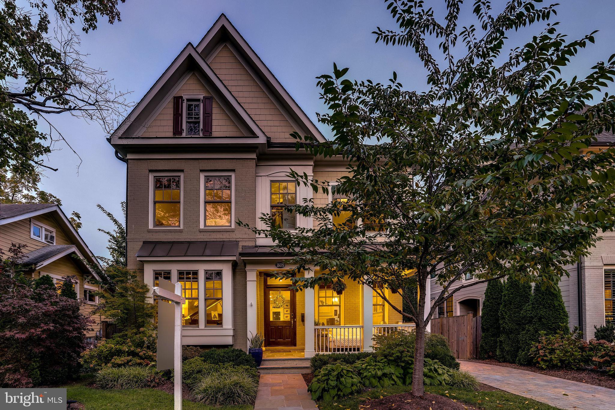 This luxurious Craftsman home, built in 2014, offers over 5,200 sq ft of space with Five bedrooms an