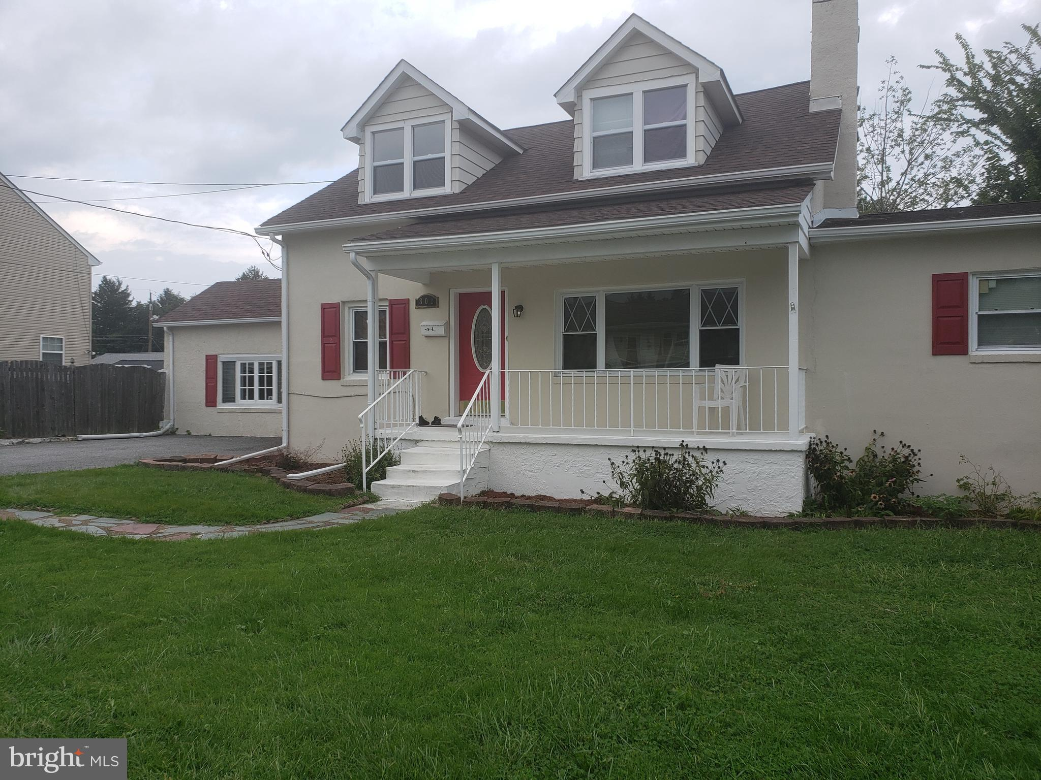 3 bedrooms, 2 full baths, 1st bedroom on main floor, wood burning fireplace, spacious backyard with