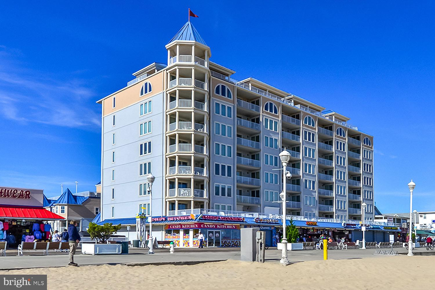 Direct oceanfront on the boardwalk in the heart of Ocean City. You won't miss out on a thing in this