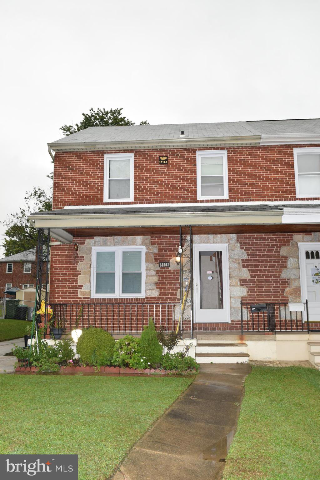 Hey Baltimore! Don't miss out on this all brick two story duplex with a fenced in rear yard. The hom