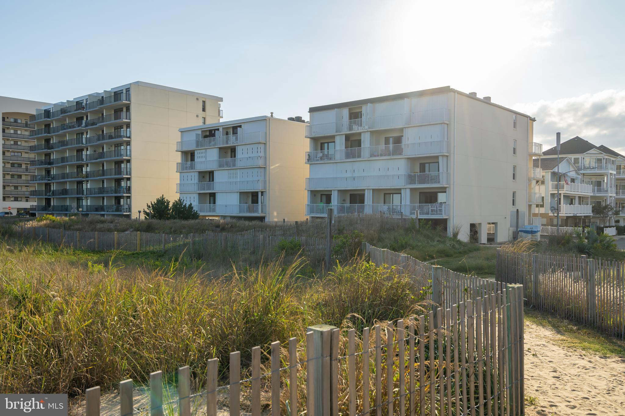 Well maintained 1 bedroom Oceanfront Condo in North Ocean City.  Small Masonry building with elevator,  outdoor storage closet & under building parking.  This Large end unit features central heat/air, large balcony, storm shutters and is being sold fully furnished 7 equipped.  Great location close to shopping, restaurants & North Side Park.