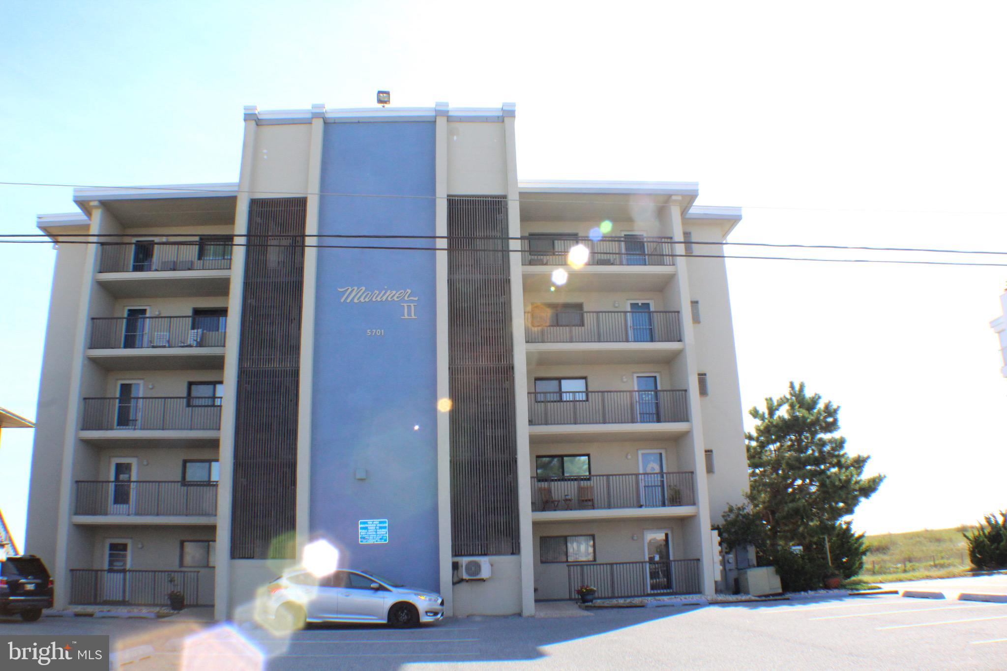 Completely remodeled in 2019,  2 bedroom, 2 bathroom condo with Direct ocean views. Views from Primary bedroom as well as living room and  private balcony. New appliances, new flooring, new hurricane shutters in 2019. Mid-Town location with elevator.