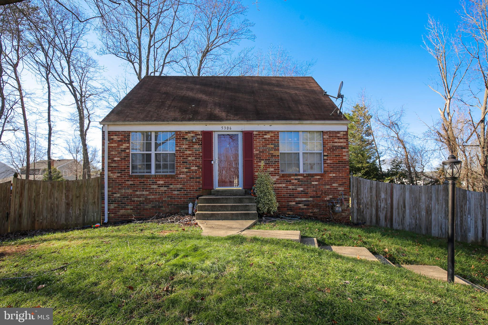 This single family home has a lot to offer with a brick front huge fenced in backyard. The driveway