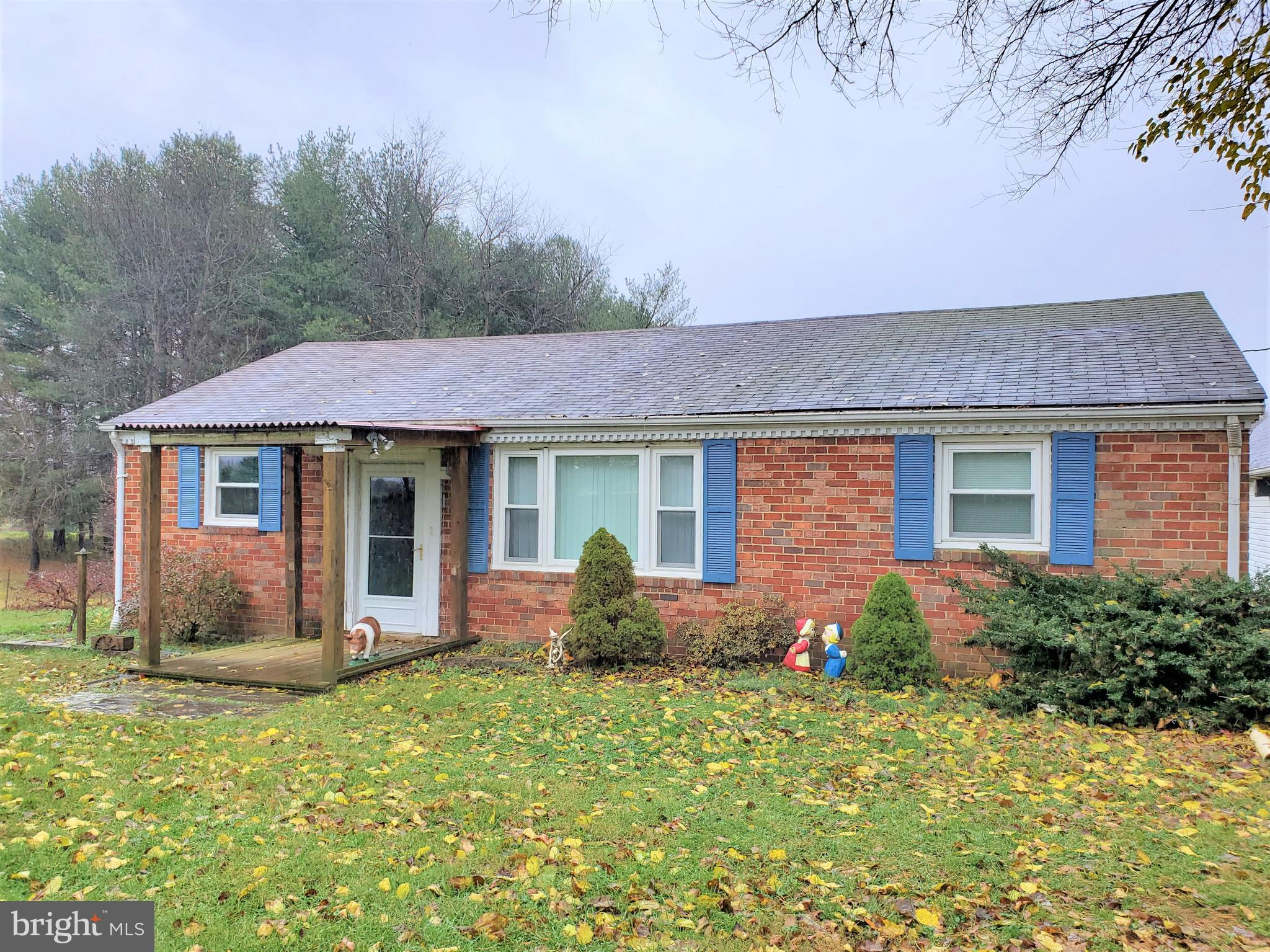 Country living with NO HOA!  Low maintenance, all brick, ranch features 3 bedroom, & 1 bathroom.  Ne