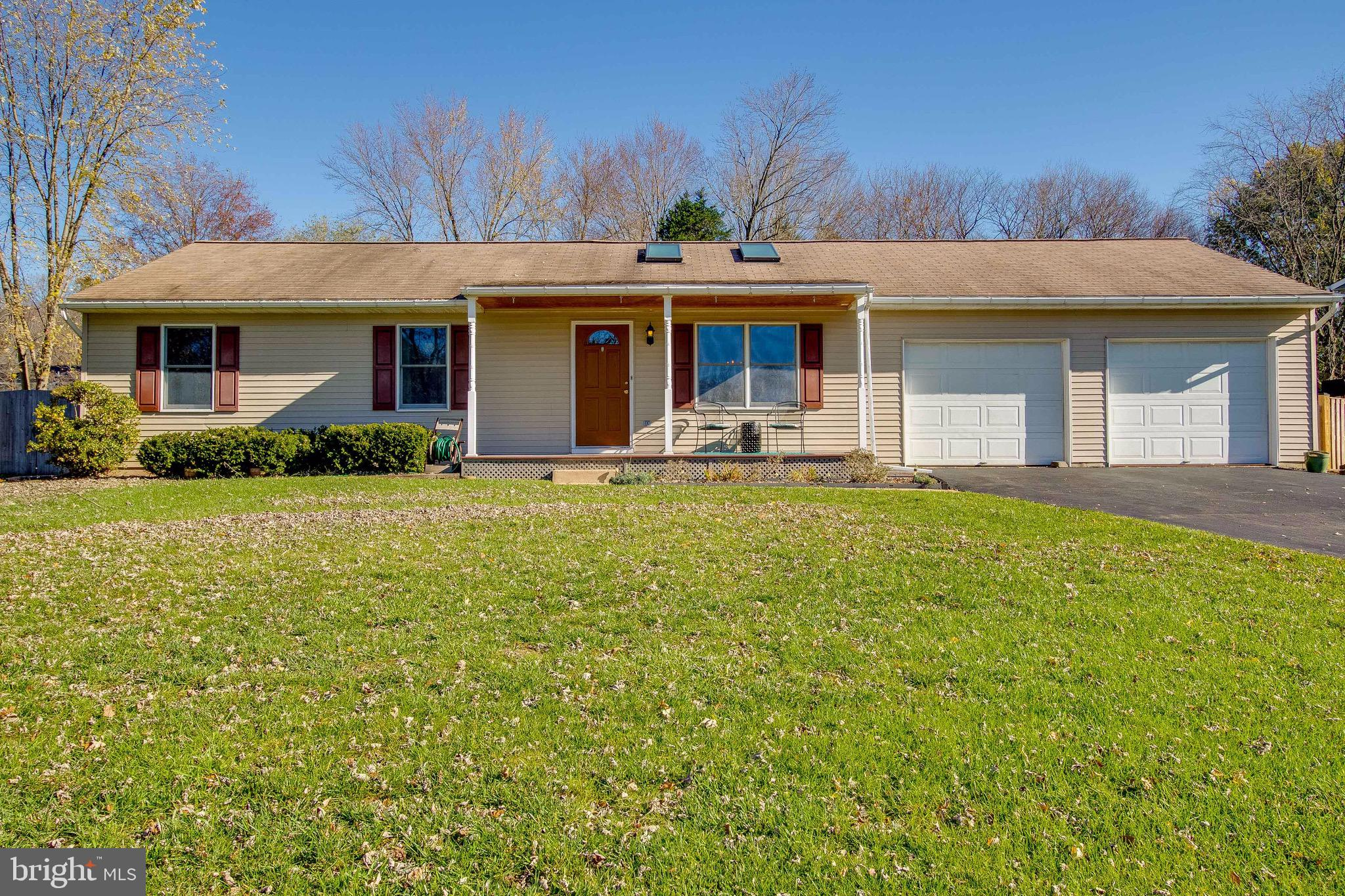 This one level Rambler offers four bedrooms and two full baths. An extension to the home provides a large family room that exits to a deck, along with a large master bedroom.  You are welcomed into a formal living room. A large country eat-in kitchen boasts newer stainless steel and plenty of cabinets. Enjoy the oversize family room that exits to a deck overlooking the back yard—a large master bedroom with cathedral ceiling and updated master bath and 3  additional nice-sized bedrooms.  The oversize two-car garage offers lots of possibilities. A beautiful level lot comes fenced with two sheds. Updates include updated windows and HVAC