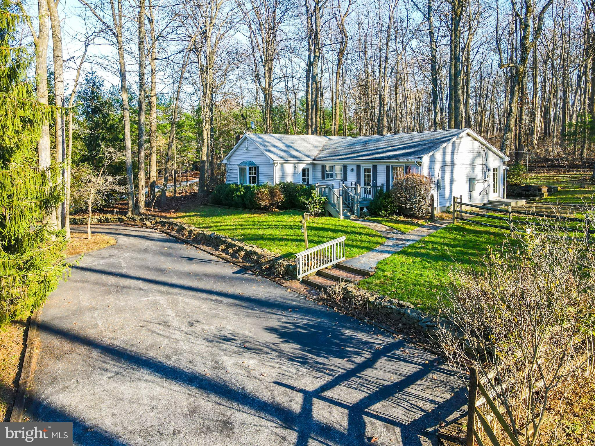 Fantastic home on over 3 acres! 3 bedrooms and 2 full baths with 1,664 sqft. The living room has cus