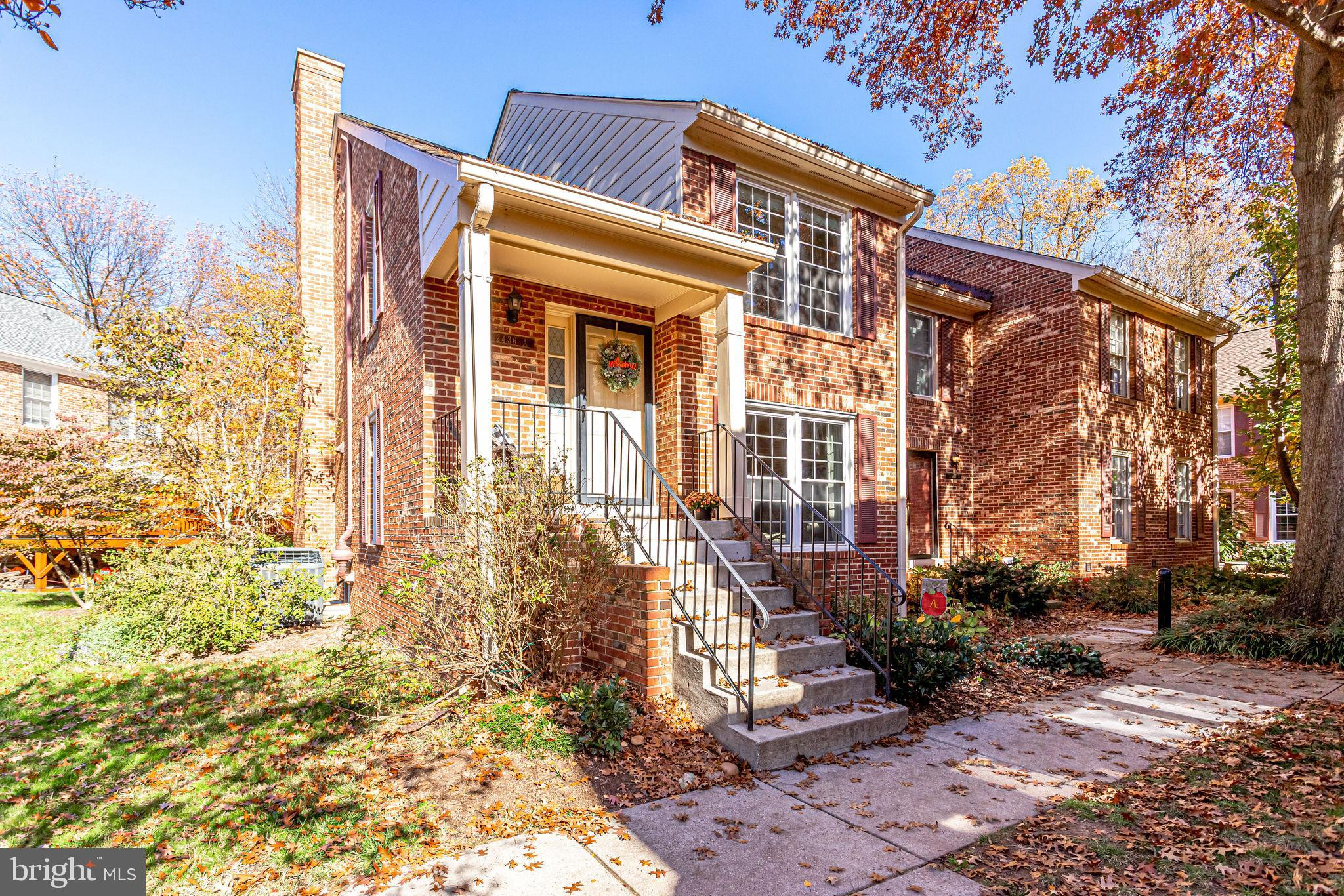 Gorgeous and light filled END UNIT!!  RARE 4Br, 3.5Bth unit partially backing to trees, park and trail!!                                                                       2,138 TOTAL SQ FT OF LIVING SPACE !!                                                                                        4th Br in bsmt is LEGAL!!  All brick exterior and stunning updates inside: Hardwood floors , Kitchen w/Granite & Top of the Line Cabinets, Add'l Pantry in Dining Area, Craftman Stair Railings, Energy efficient Windows, Large fenced Patio. Updated Baths. Built in entertainment centers in both Family Rooms, Laundry Room is Dry-walled--feels finished!  Storage space is excellent for a house this size.  Shows like a new Home!!  1/2mile to Shirlington, quick drive or bus to Pentagon, Rosslyn, Amazon HQ2! Abundant neighborhood restaurants and shops nearby!! Move in and enjoy the good life!!