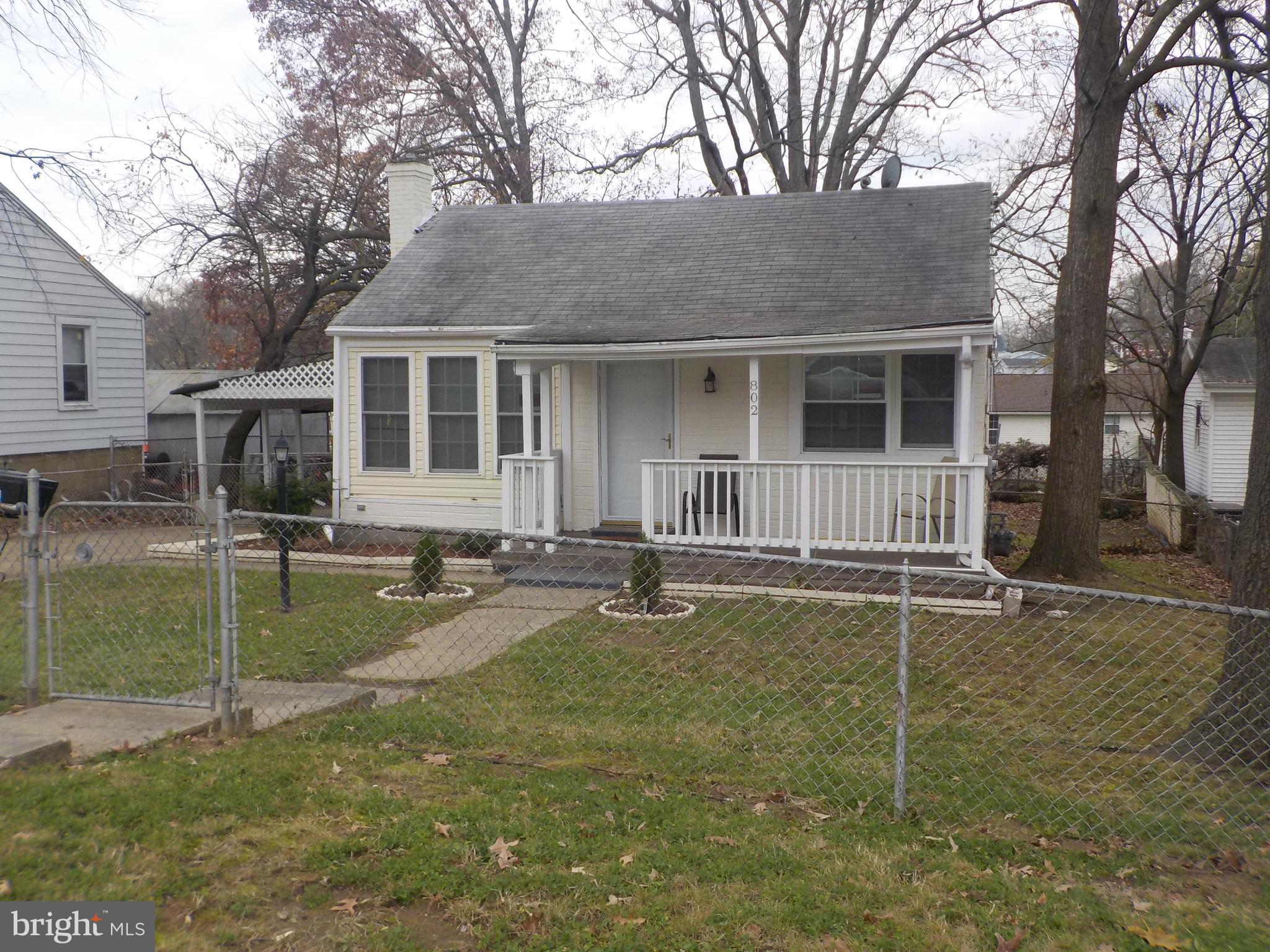 SMALL 3 BEDROOM 2 BATH DETACHED HOME WITH A FENCED YARD AND A CARPORT!! KITCHEN HAS STOVE AND REFRIGERATOR!! LARGE LOWER LEVEL, CELLAR TYPE BASEMENT WITH A WASHER AND DRYER AND PLENTY OF ROOM FOR STORAGE!! CLOSE TO TRANSPORTATION AND THE CITY!!