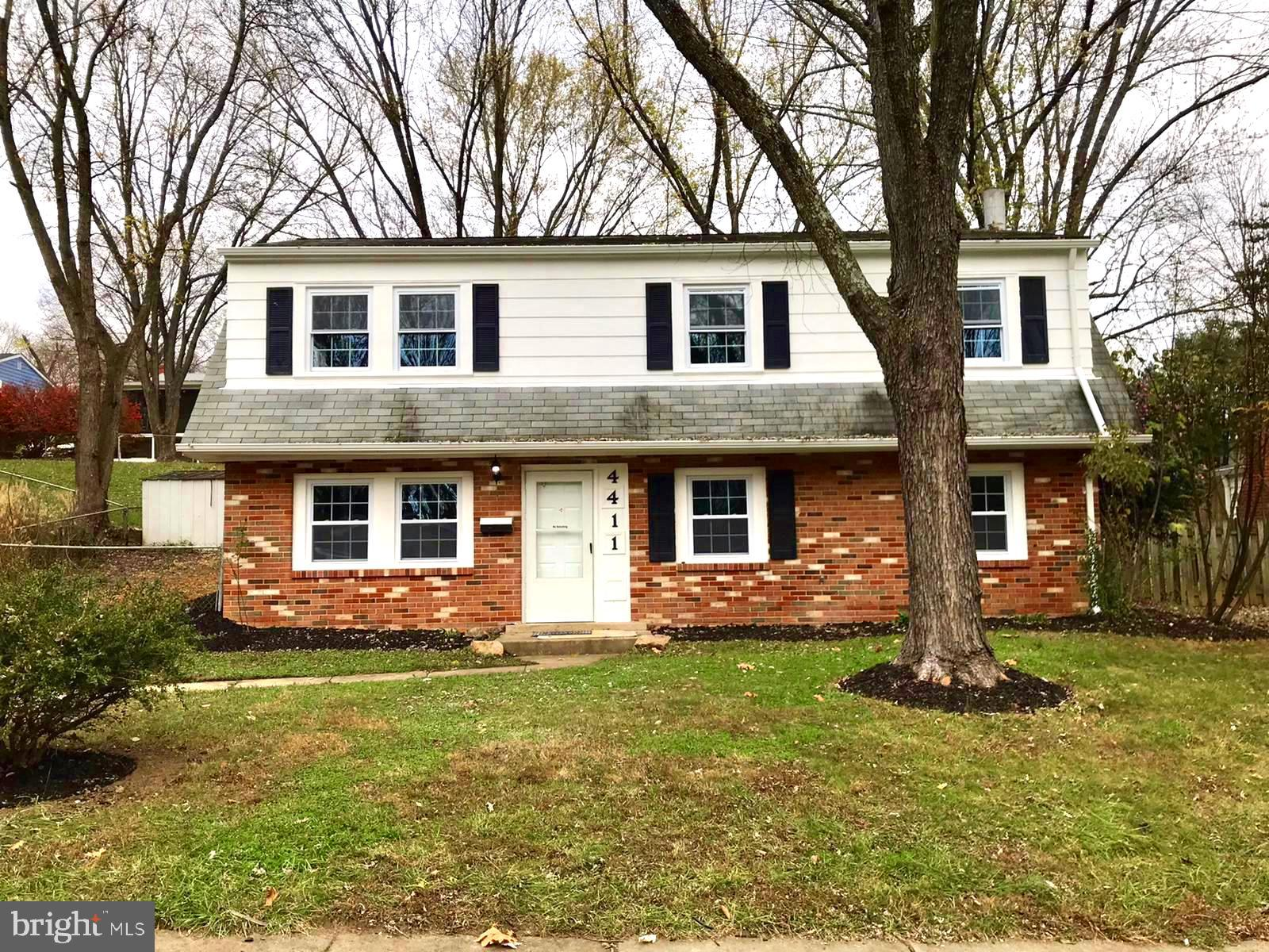 Beautifully updated 4 bedroom & 2 full baths home features a nice deck in rear with fully fenced bac
