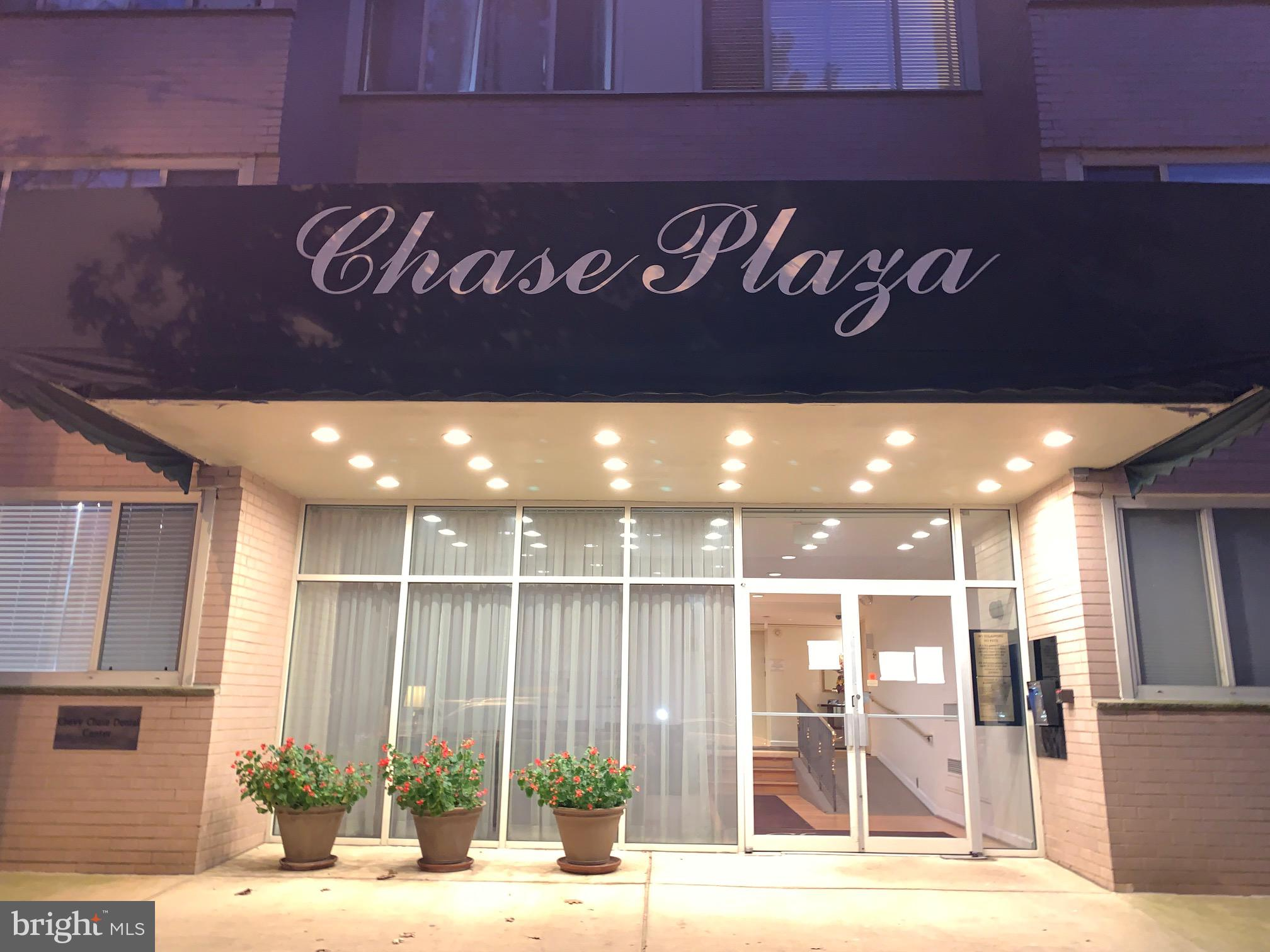 Excellent opportunity to live in the the Chase Plaza in fabulous Chevy Chase!  Spacious 838 square f