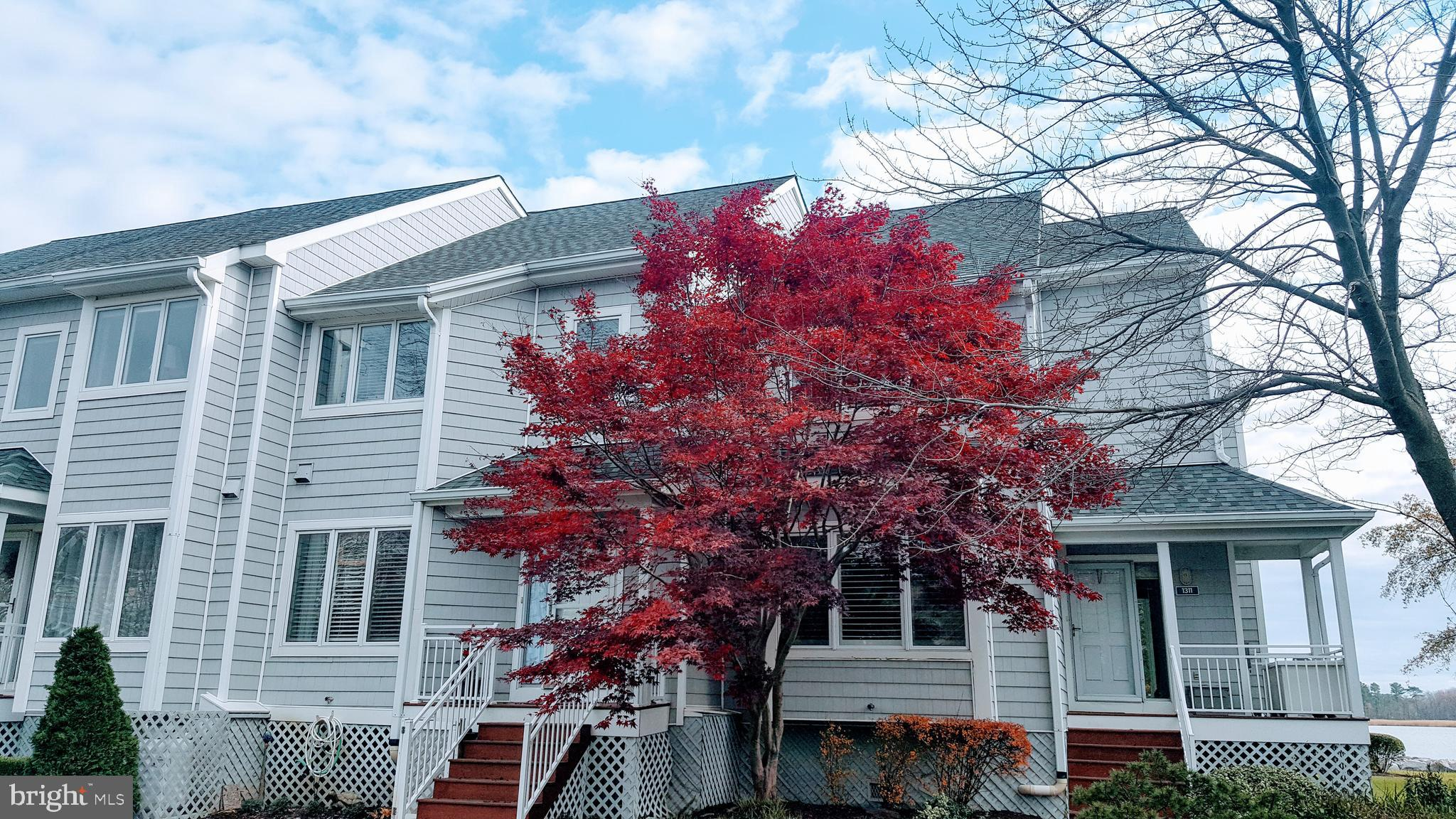 WATERFRONT END  townhouse facing open water in  highly desirable, gated community! NEW CARPET, PAINT