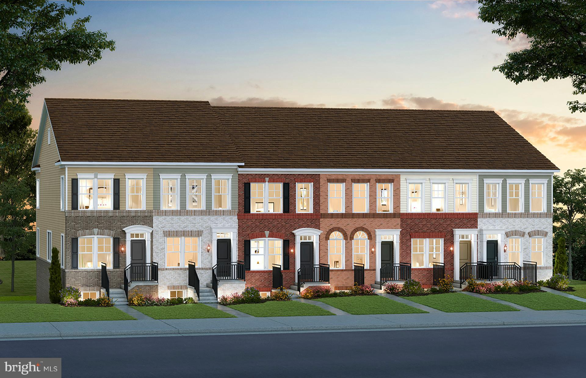 The new Baywood townhome features a spacious center kitchen. Enter this home through the gathering r