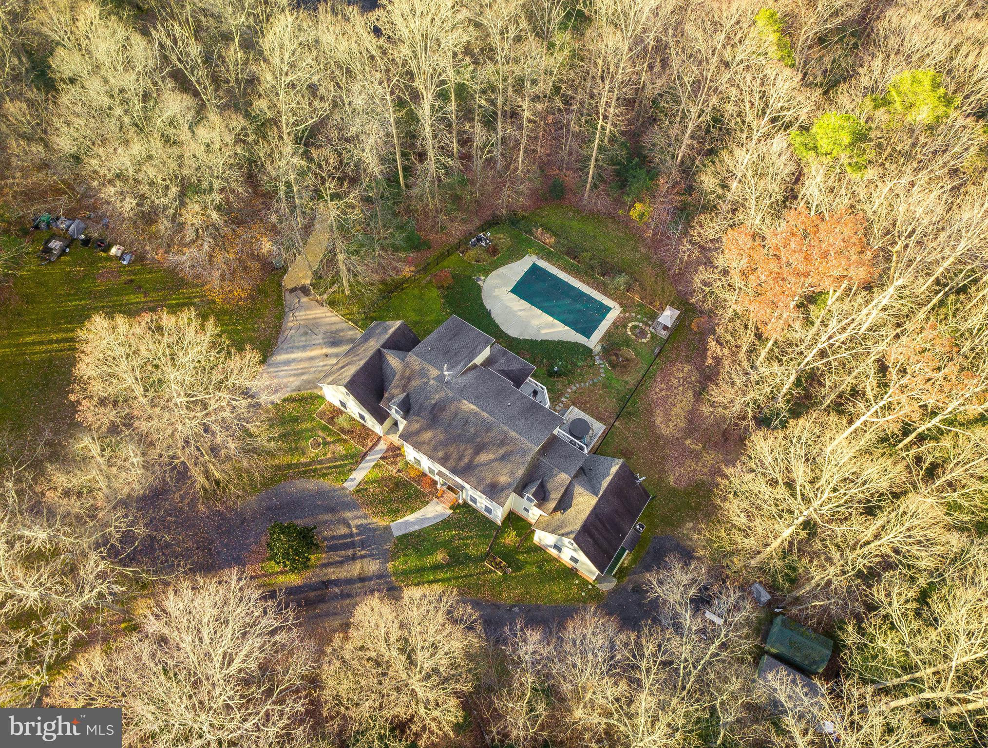 Beautiful and private!  5 bed room 2.5 bath with 3.43 acres adjoined to community pond with walking