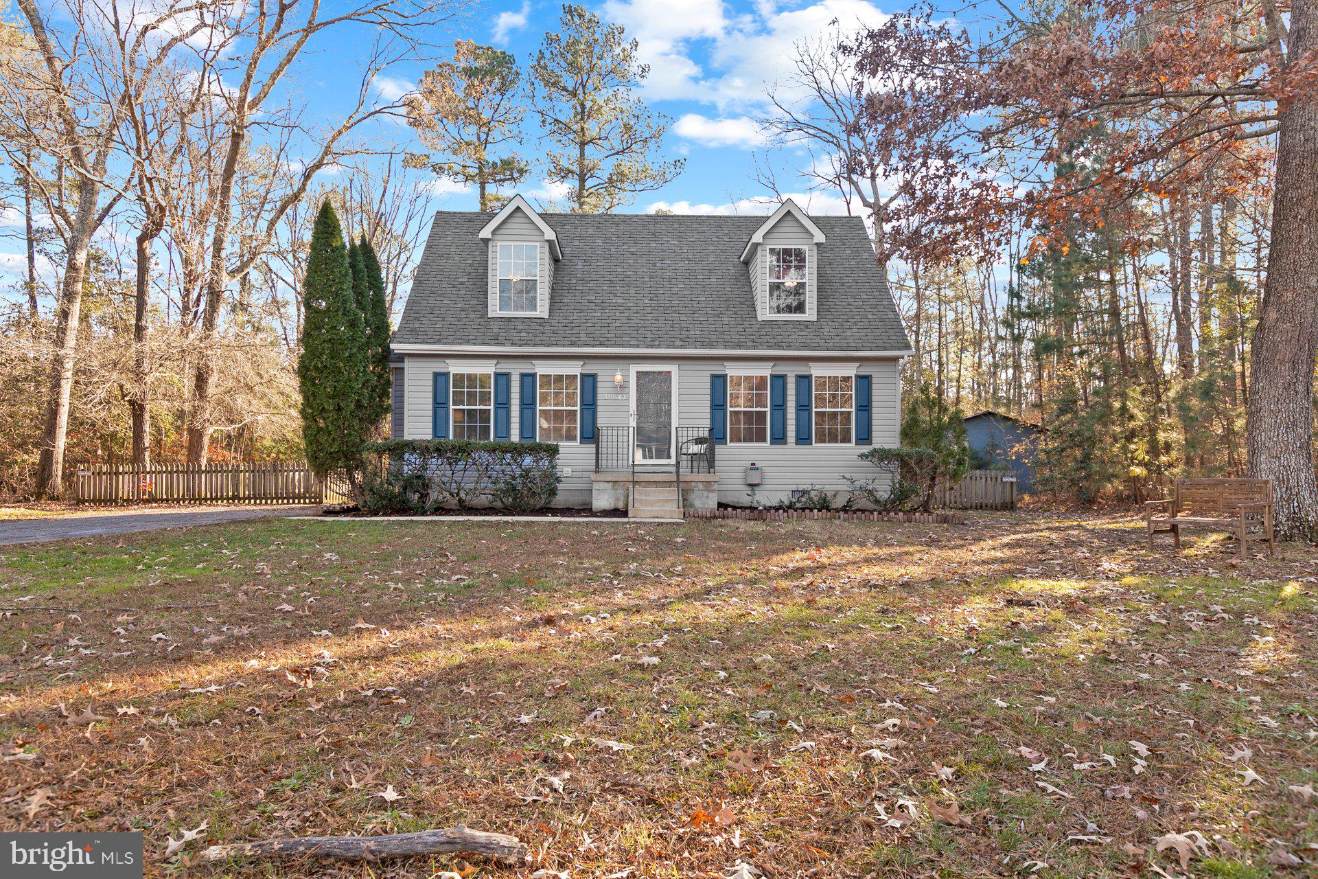 Come home to this adorable Cape Cod with 4 bedrooms and 2 full baths on over an acre in Leonardtown!