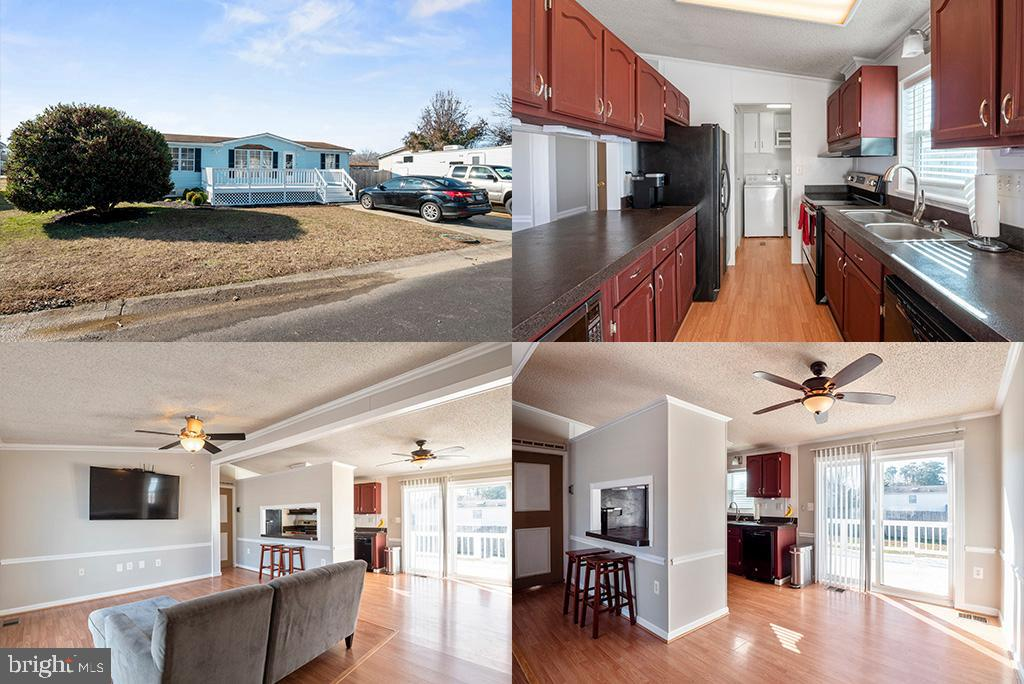 This Lovely Ranch Style Home has a Kitchen with breakfast bar and plenty of table space that opens t