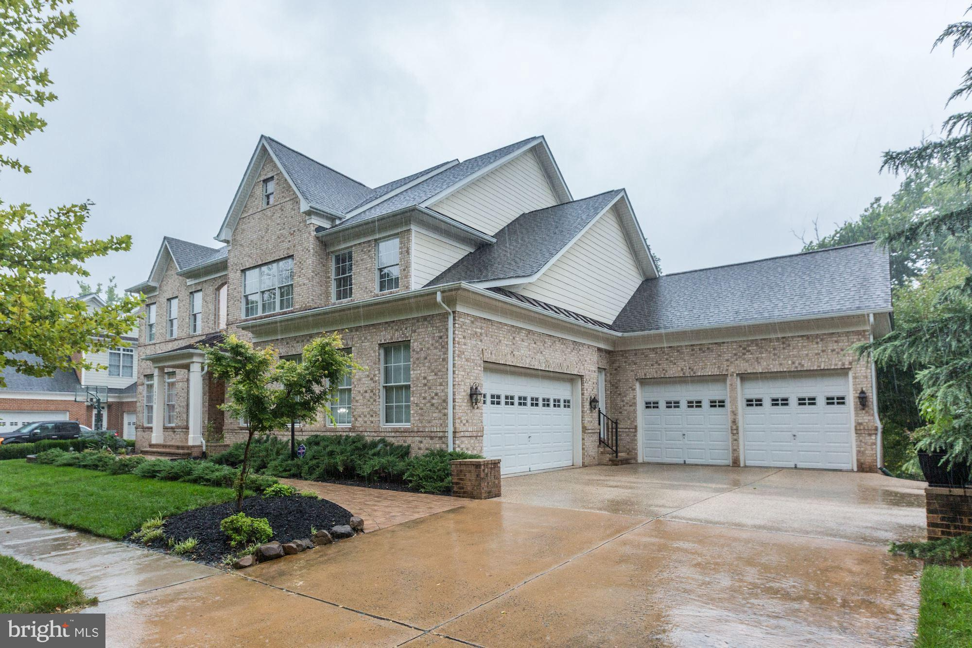 Overlooking the golf course, this magnificent home has over seven thousand square feet of luxurious