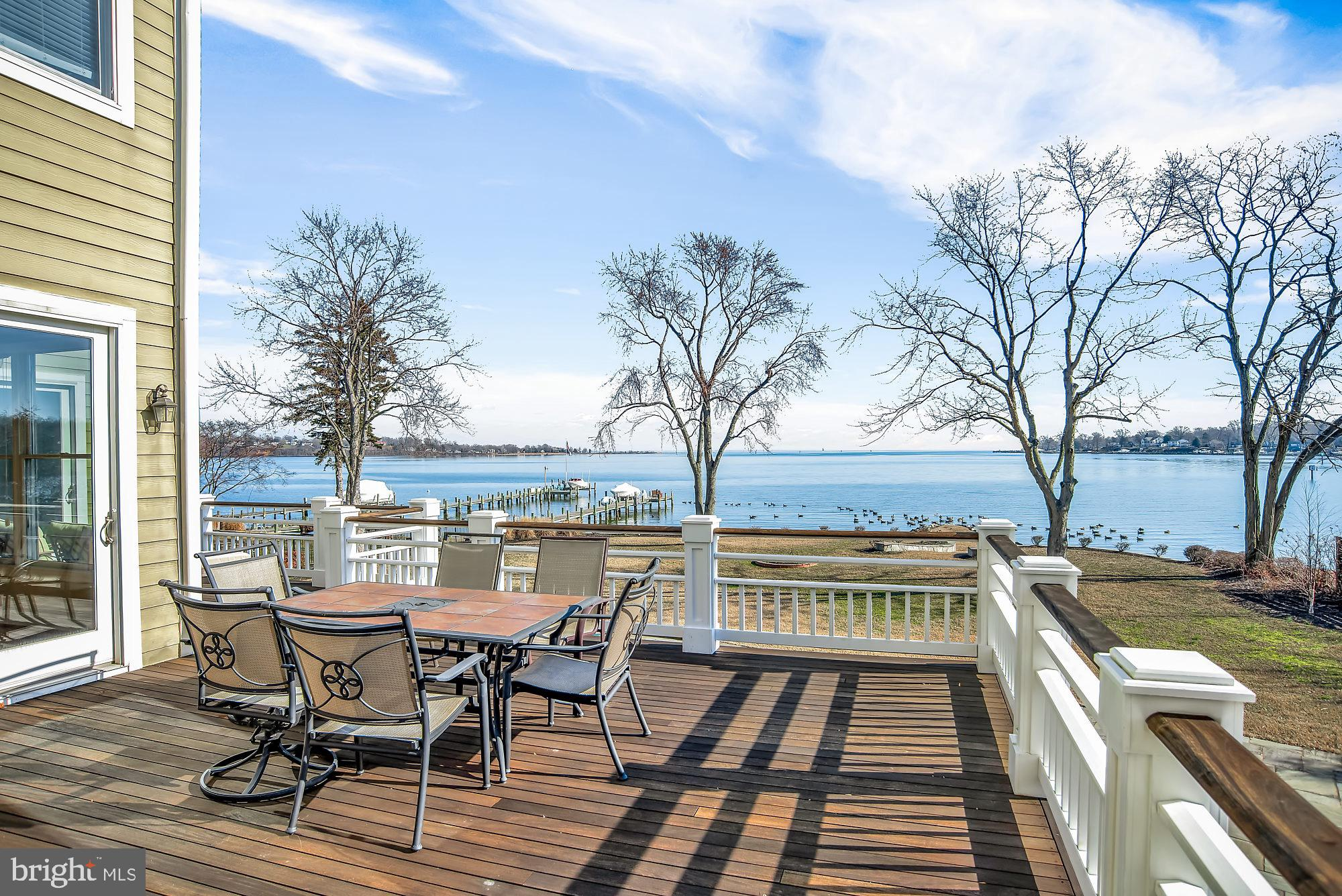 You are going to love the jaw-dropping, panoramic  view of the Magothy River and Chesapeake Bay from