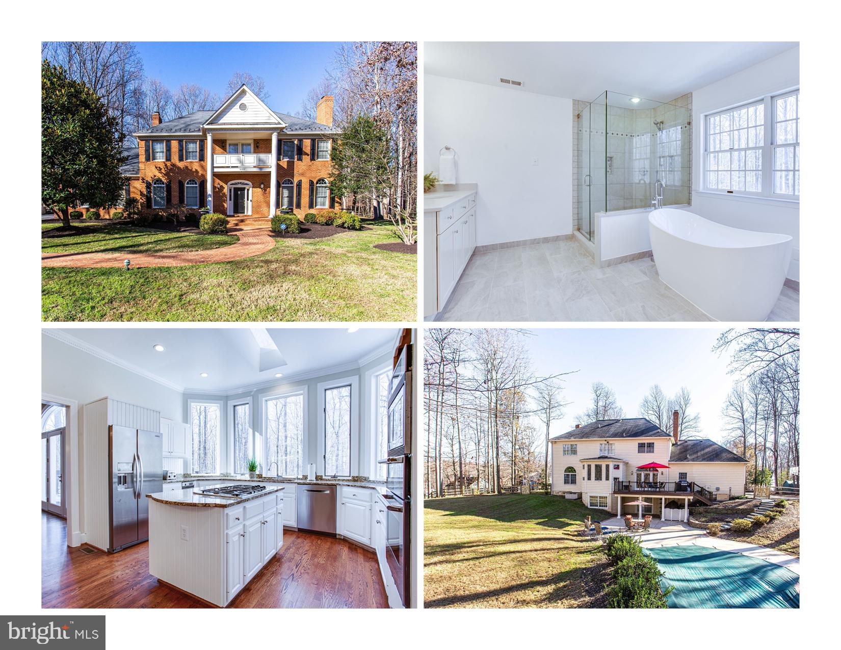 Down a quiet lane abutting a 230 acre nature preserve, this stately brick Colonia,l perfectly sited