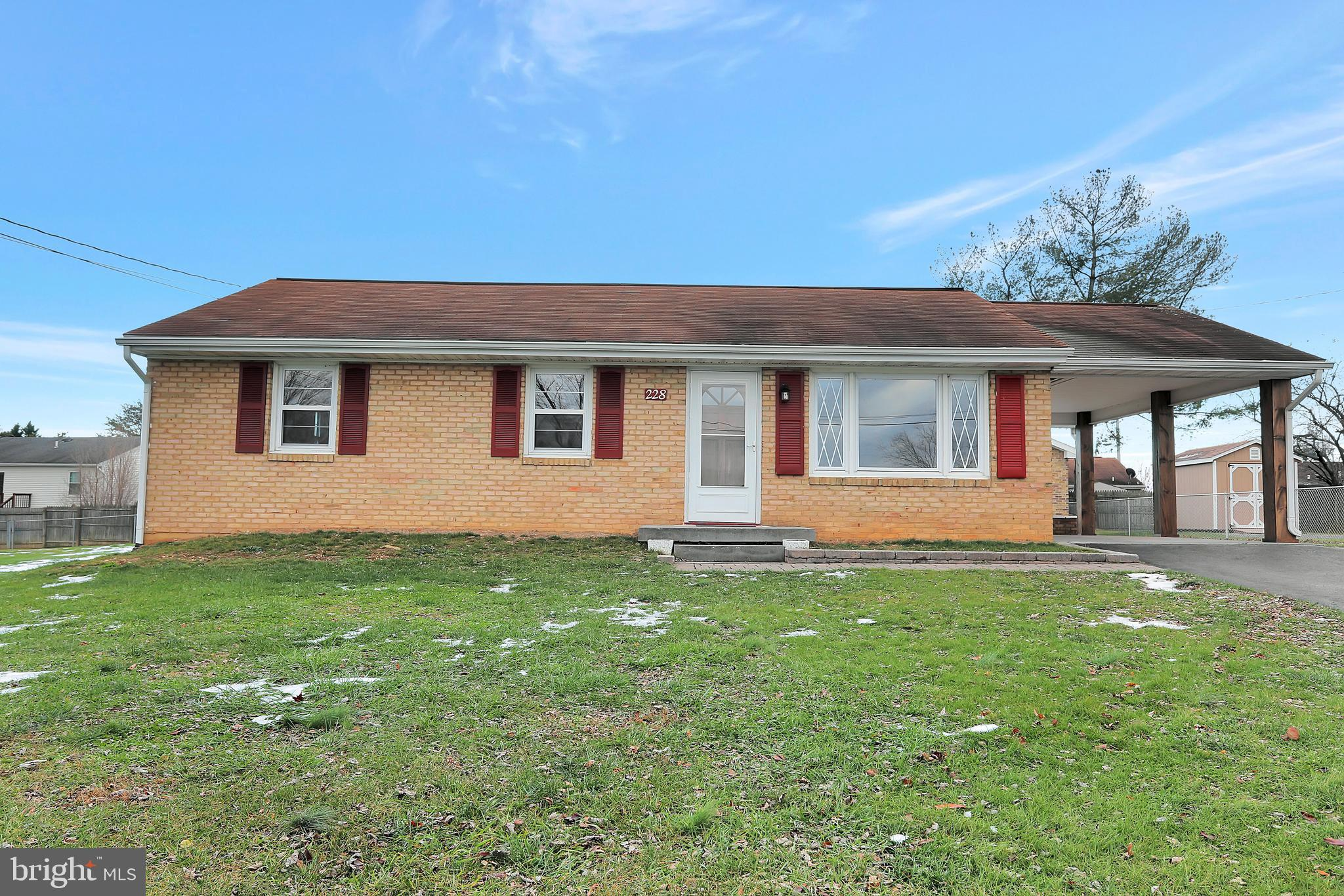 This All Brick Rambler has been renovated and is move in ready! Hardwood floors throughout the main