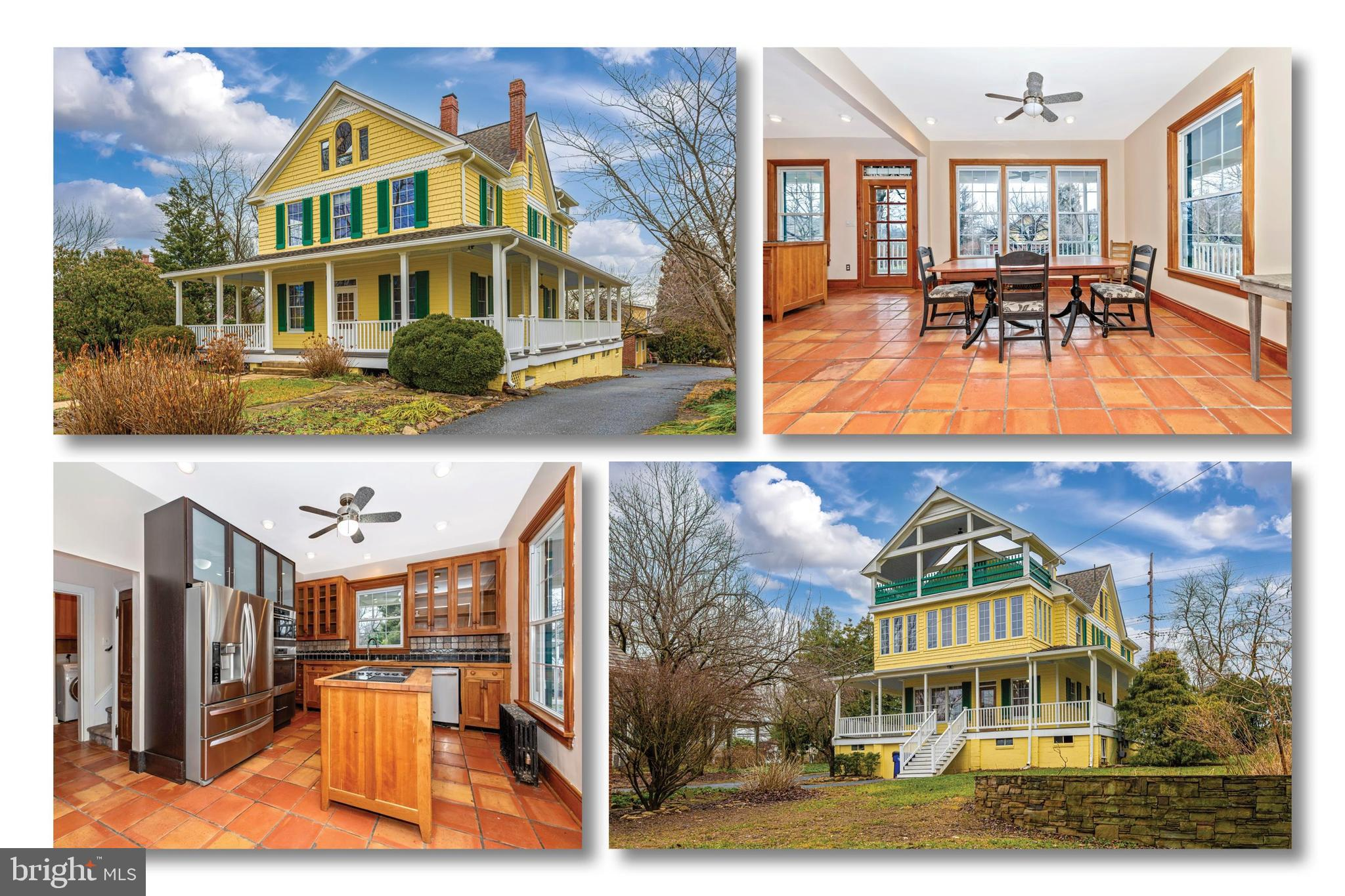 Circa 1920 Braddock Heights Victorian home with panoramic views of Middletown Valley overlooks the l