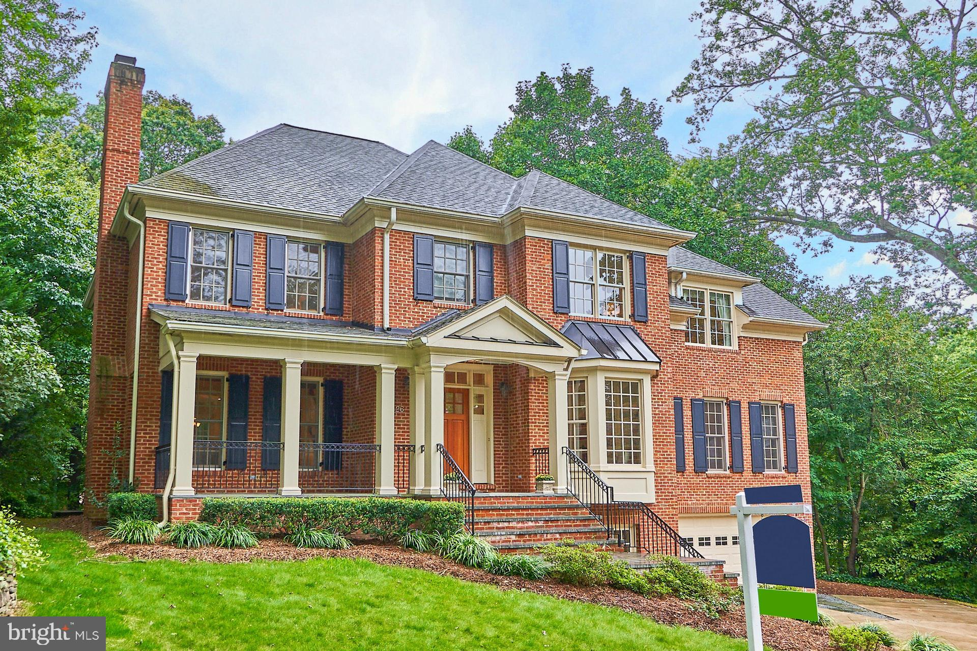 Custom Brick Colonial in Lee Heights on quiet cul-de-sac. Move-in condition. This home has 5br and 5