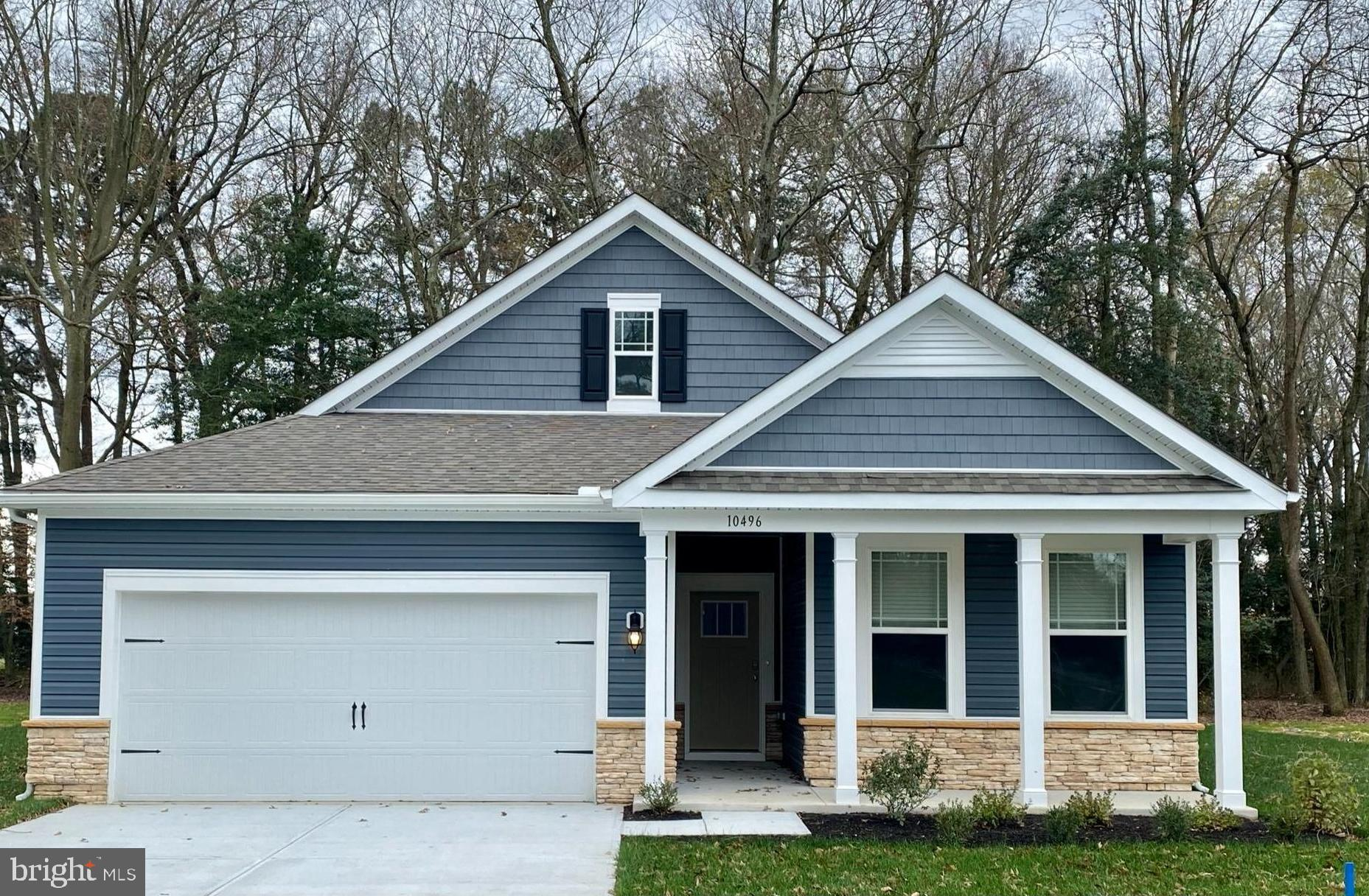 Available 1,748 square foot, open concept, new construction ranch home in Ocean View. Complete with