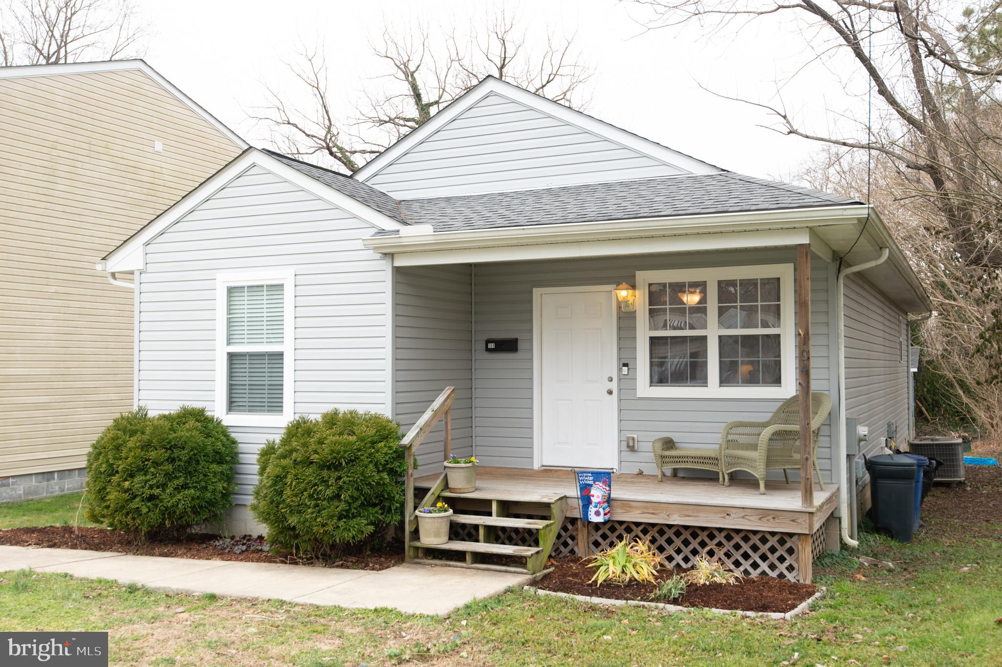 Adorable rancher built in 2012 right in the heart of Centreville. Great layout with 3 bedrooms and 2