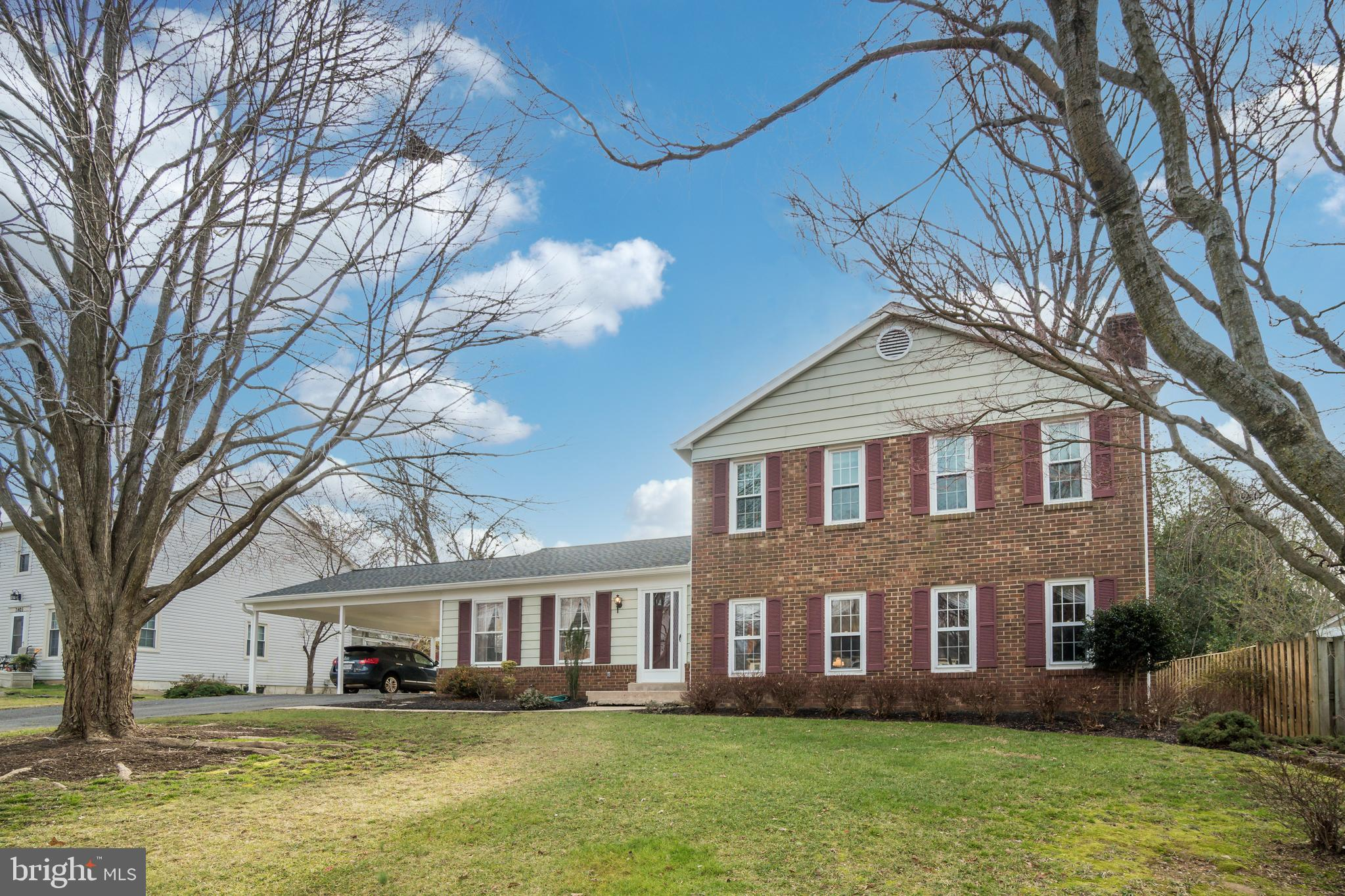 """Solid BRICK home on a GORGEOUS lot that backs to some trees, with the street ending in a Cul-de-Sac.  The home boosts  sun-filled 4 LVLS, 4 BedRms, 2.5 Bath's.  Professional interior/exterior pics will be uploaded this weekend. Crown and Chair Moldings, Arched Entryways, Eat-In Kitchen w/Pantry, Formal Dining Rm w/Sliding Glass Door to Screened Porch, Formal Living Rm. Spacious Rec Rm w/Exposed Beams, Wood Flooring, & Wood burning FP.  Extensive Primary BedRm has a Walk-In Closet w/another large closet near Sitting Area.  RECENTLY REPLACED: ROOF, AC, HEATING, WINDOWS (upper level), ATTIC INSULATION.  5 VEHICLE PARKING- Parking for 2 cars under Carport w/another 3 car parking on paved Driveway.  Backyard Fenced w/Shed.  Home does need some updating. Property has great bones and is being sold strictly """"AS-IS"""".  Quick settlement possible!"""
