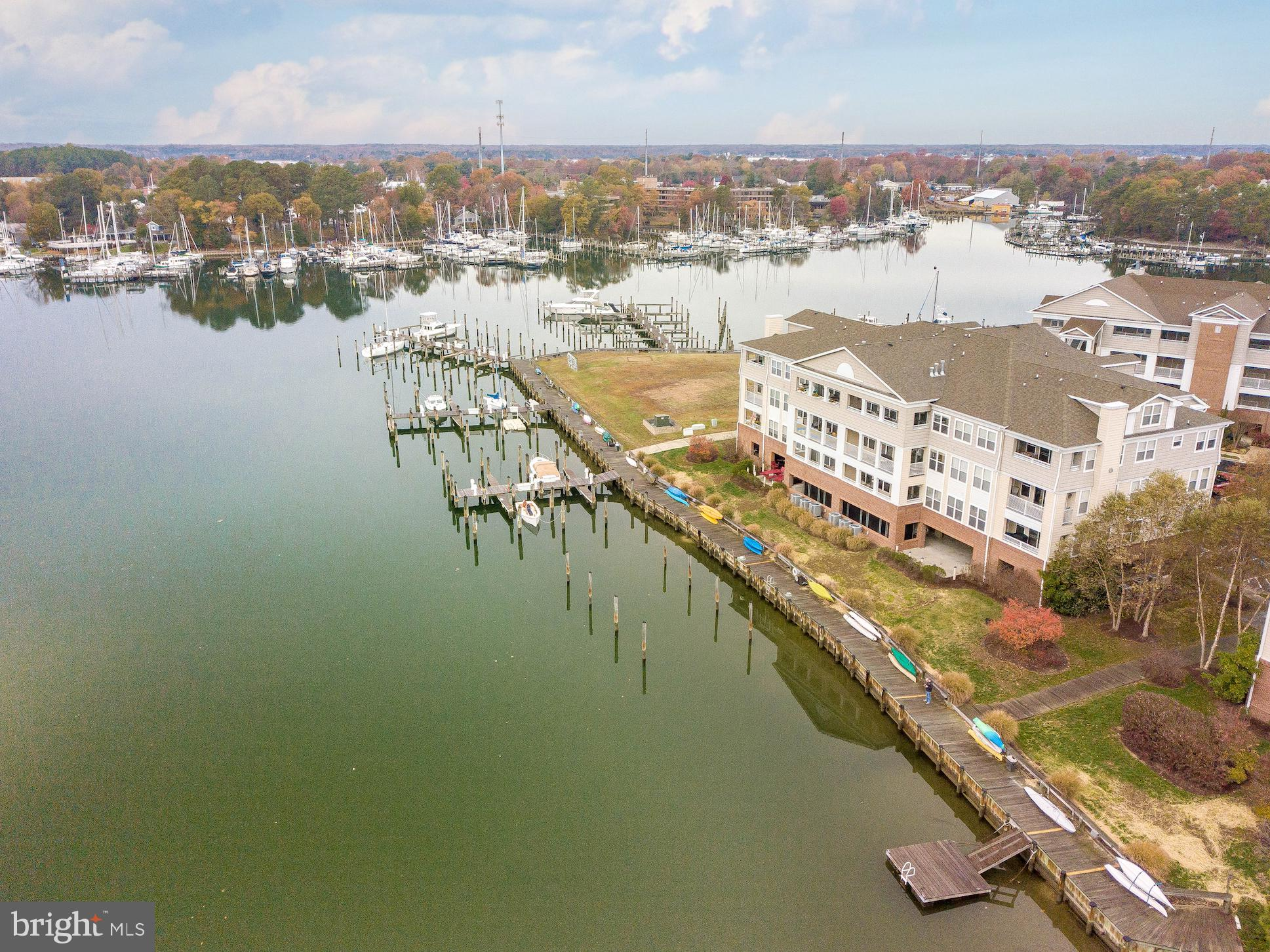 Waterfront Top Floor Condo looking at Back Creek and Solomons Island. 3 Bedrooms and 3 Full Bathroom